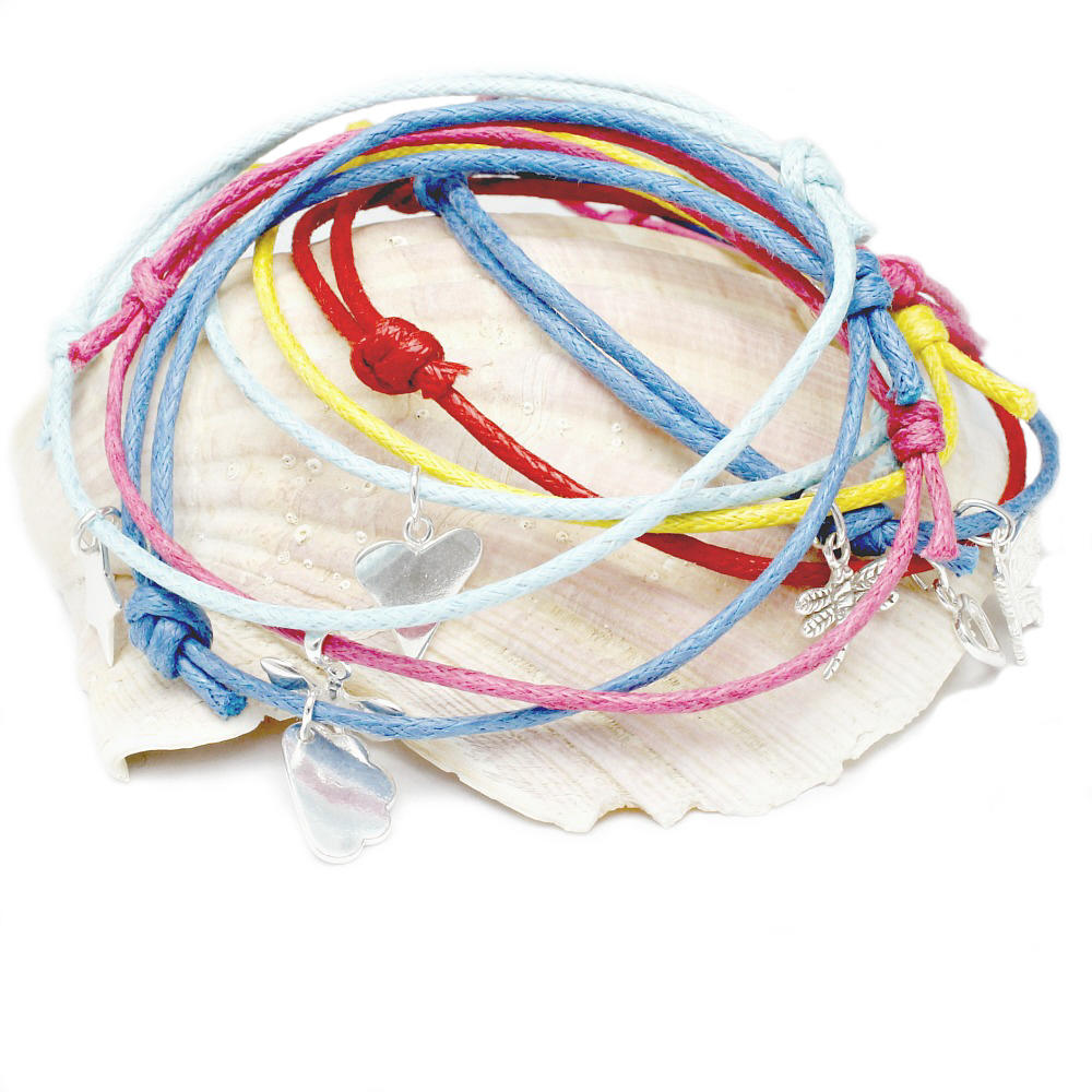 Cotton friendship bracelets
