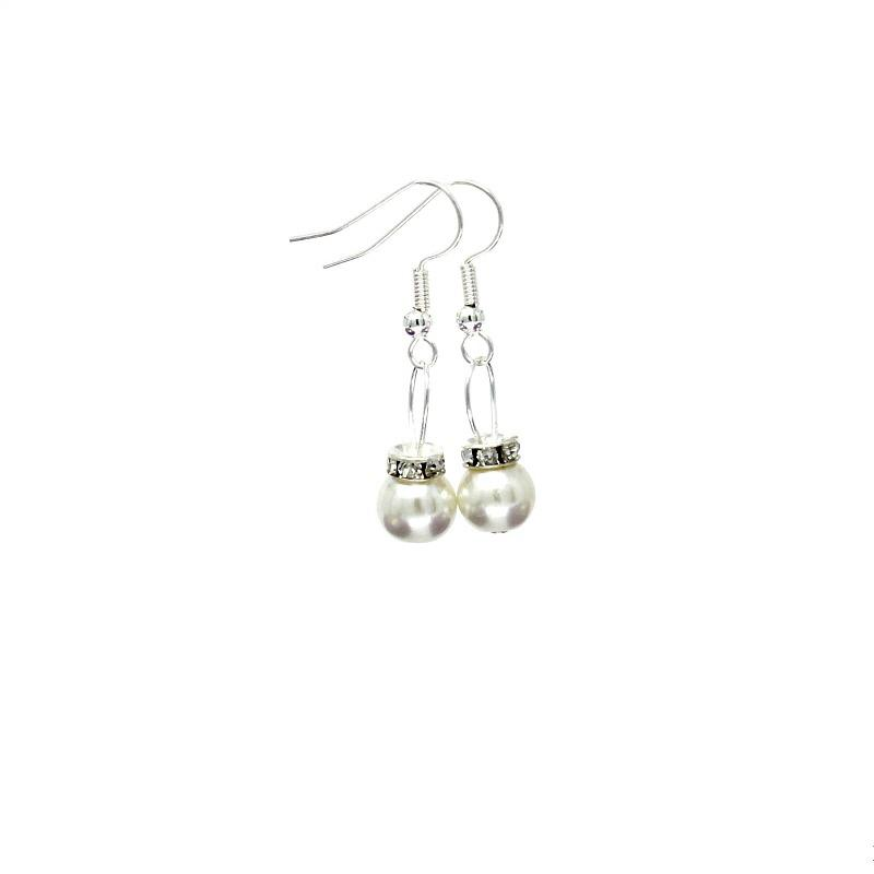 White Christmas Bauble Earrings