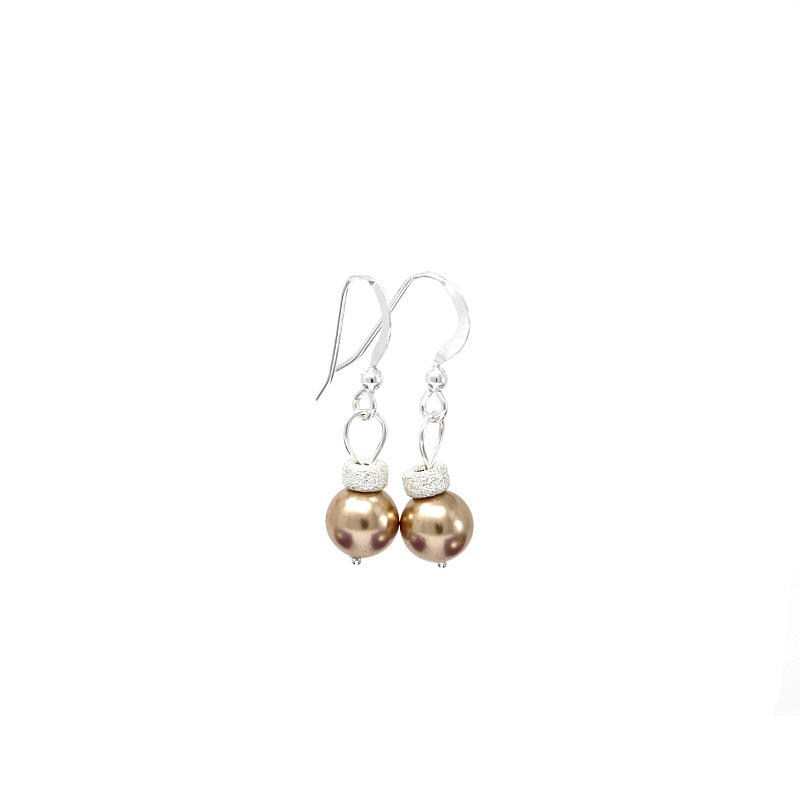 Rose Gold Christmas Bauble Earrings