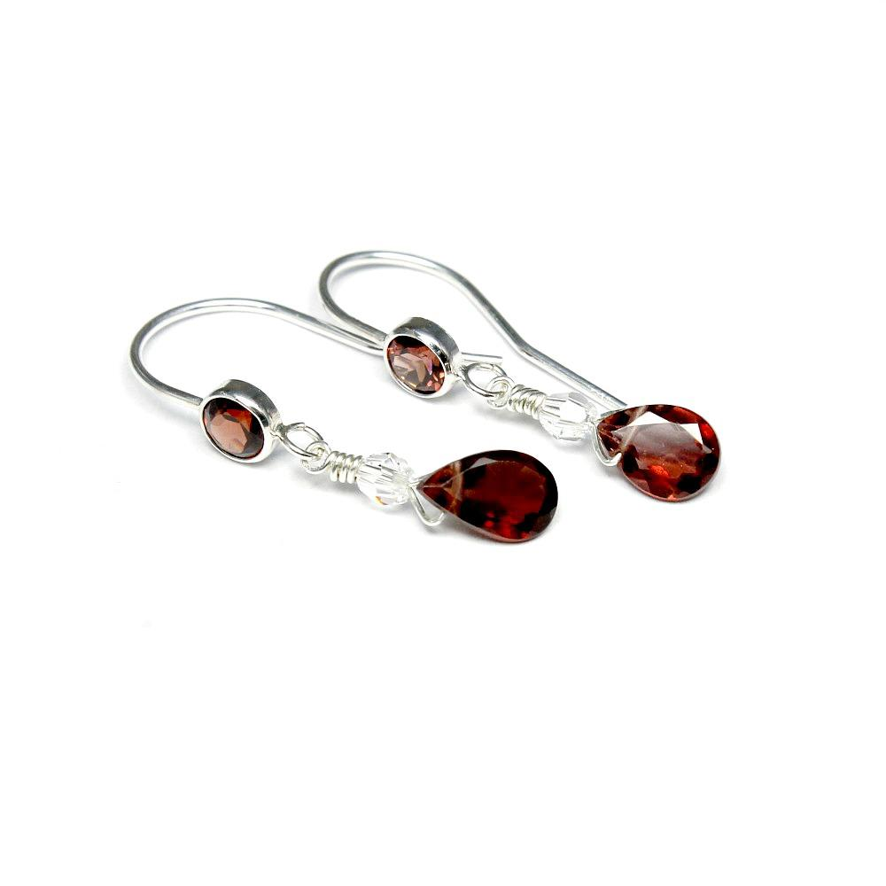 Garnet set silver Earrings