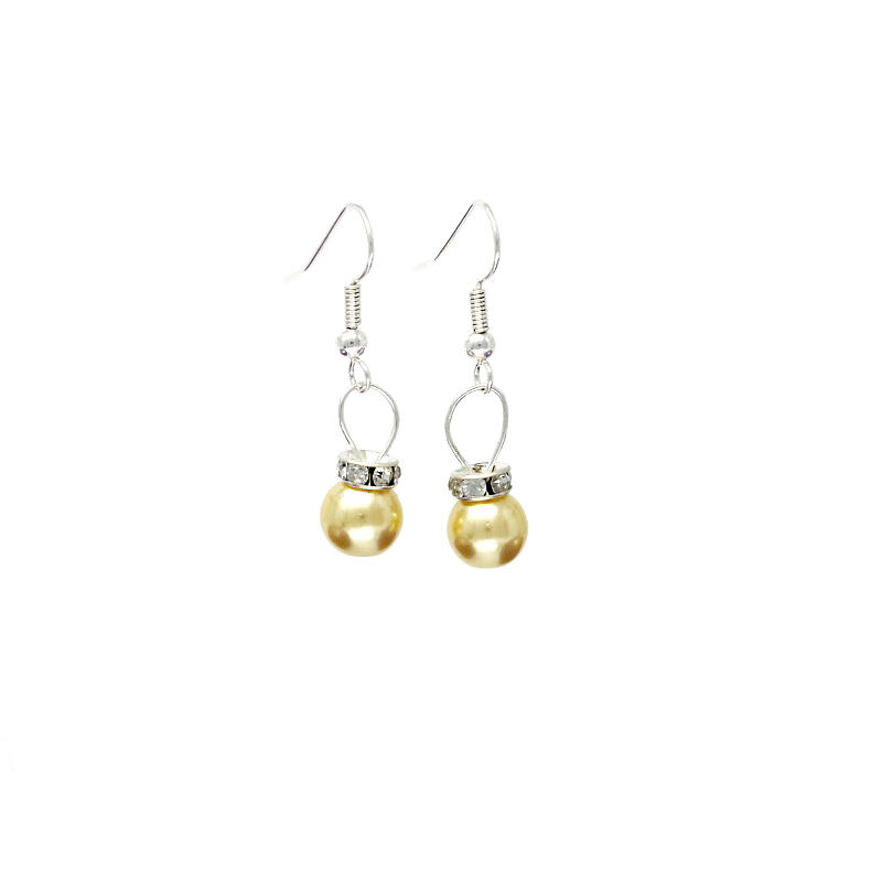 Light Gold Christmas Bauble earrings
