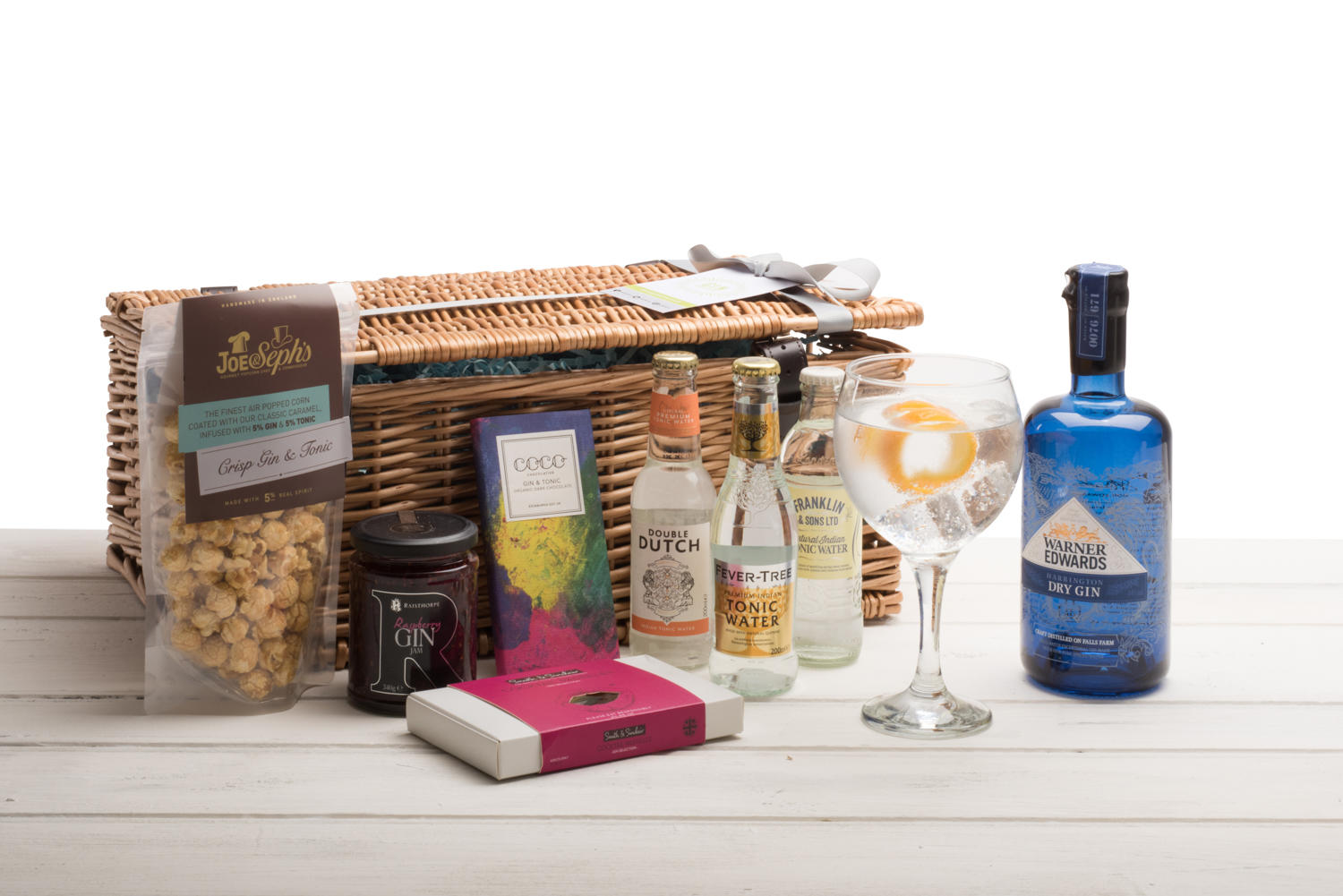 Warner Edwards Harrington Dry Gin Wicker Hamper