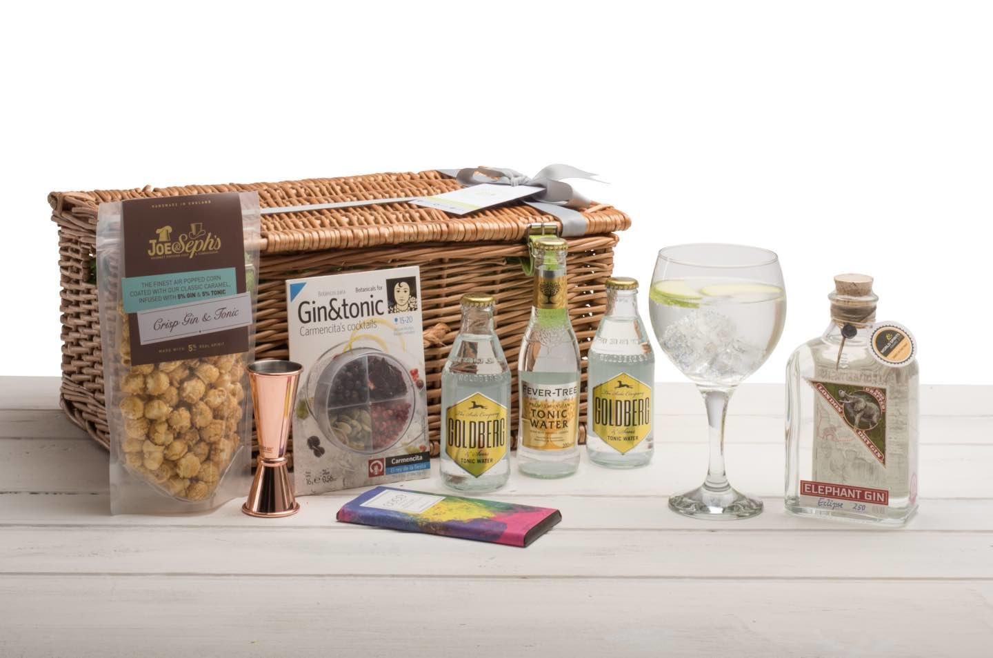 Elephant Gin Hamper Wicker