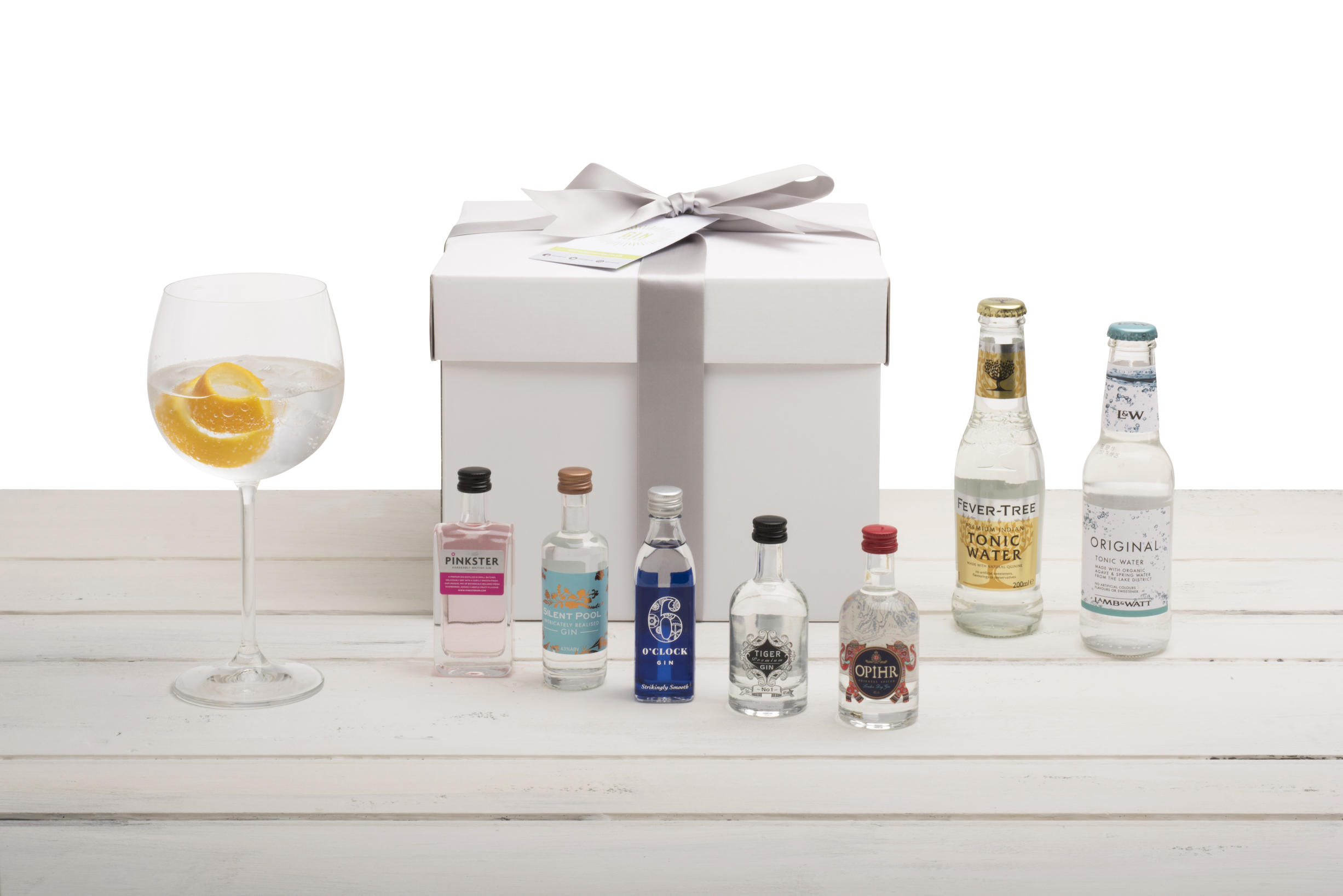 Gin Miniatures Gift Set - Amazing Bottles with Gin Copa