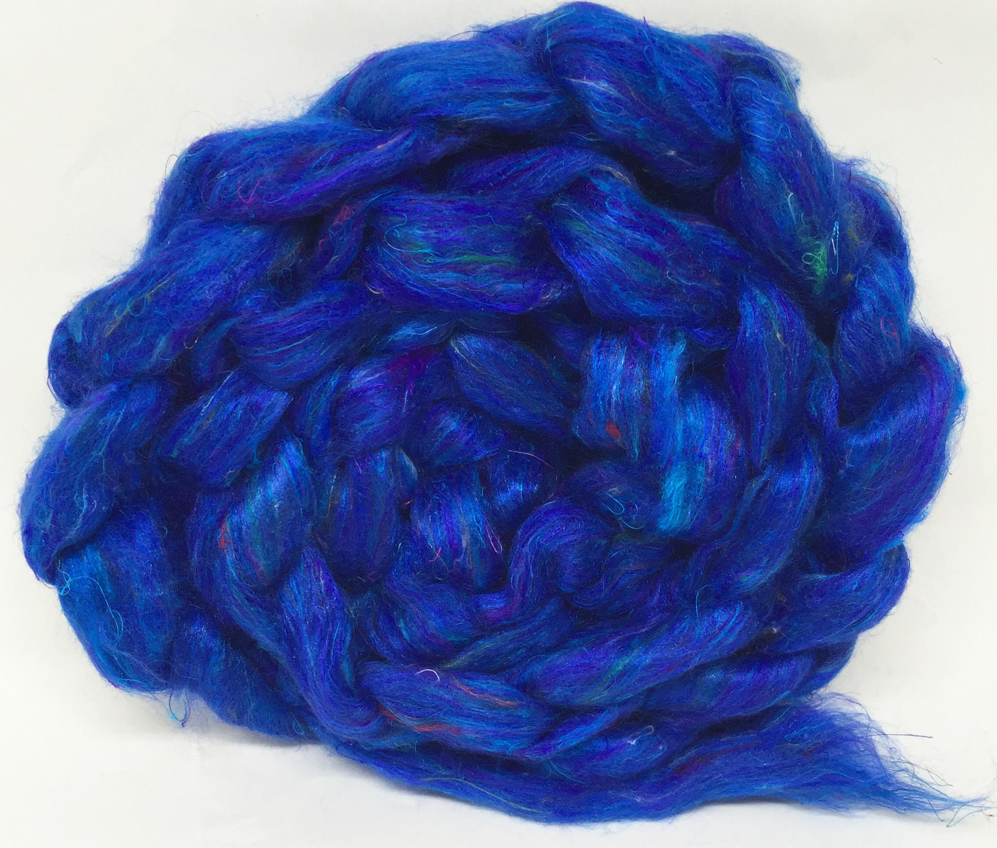 Sari Silk Roving - Blue
