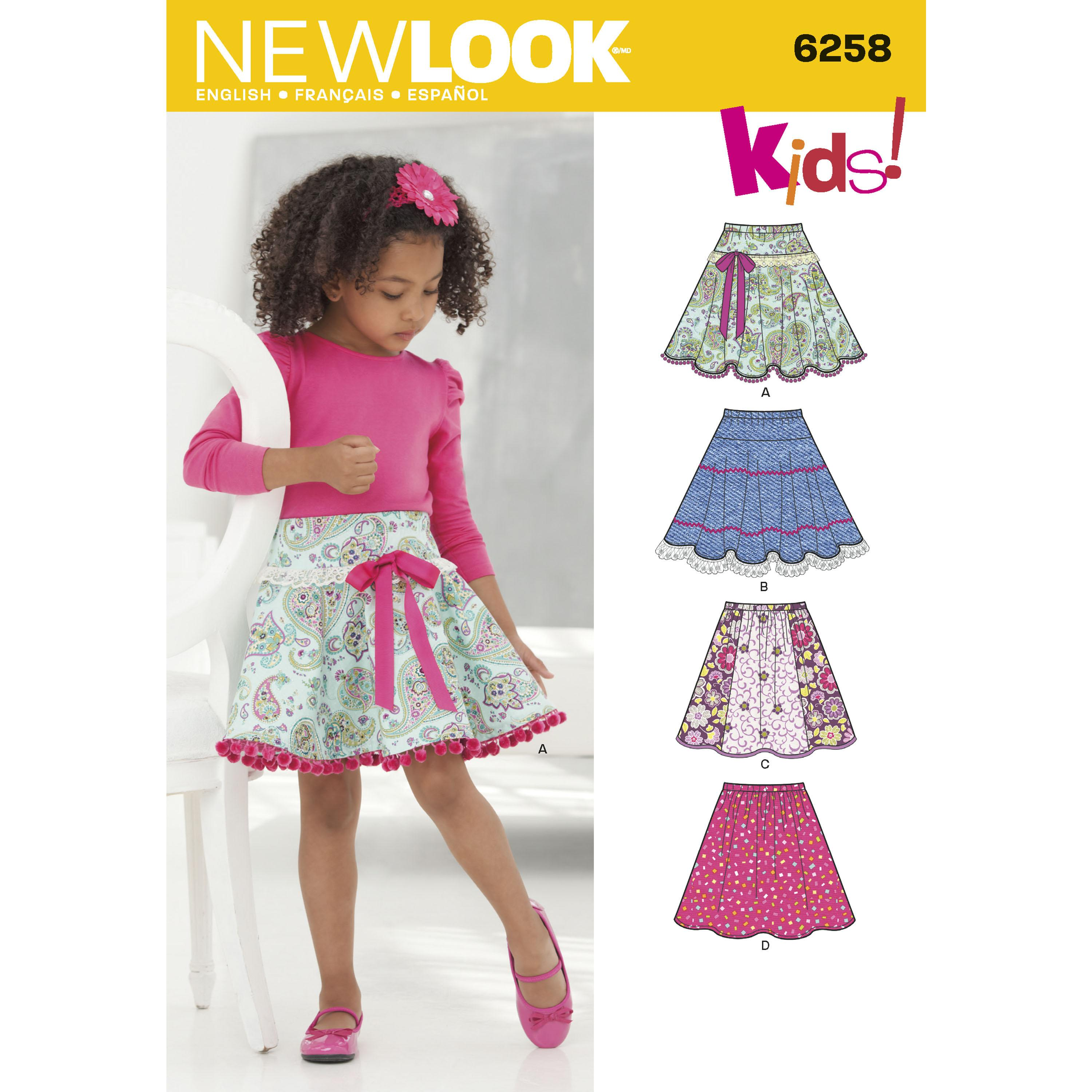 NewLook N6258 Child's and Girls' Circle Skirts