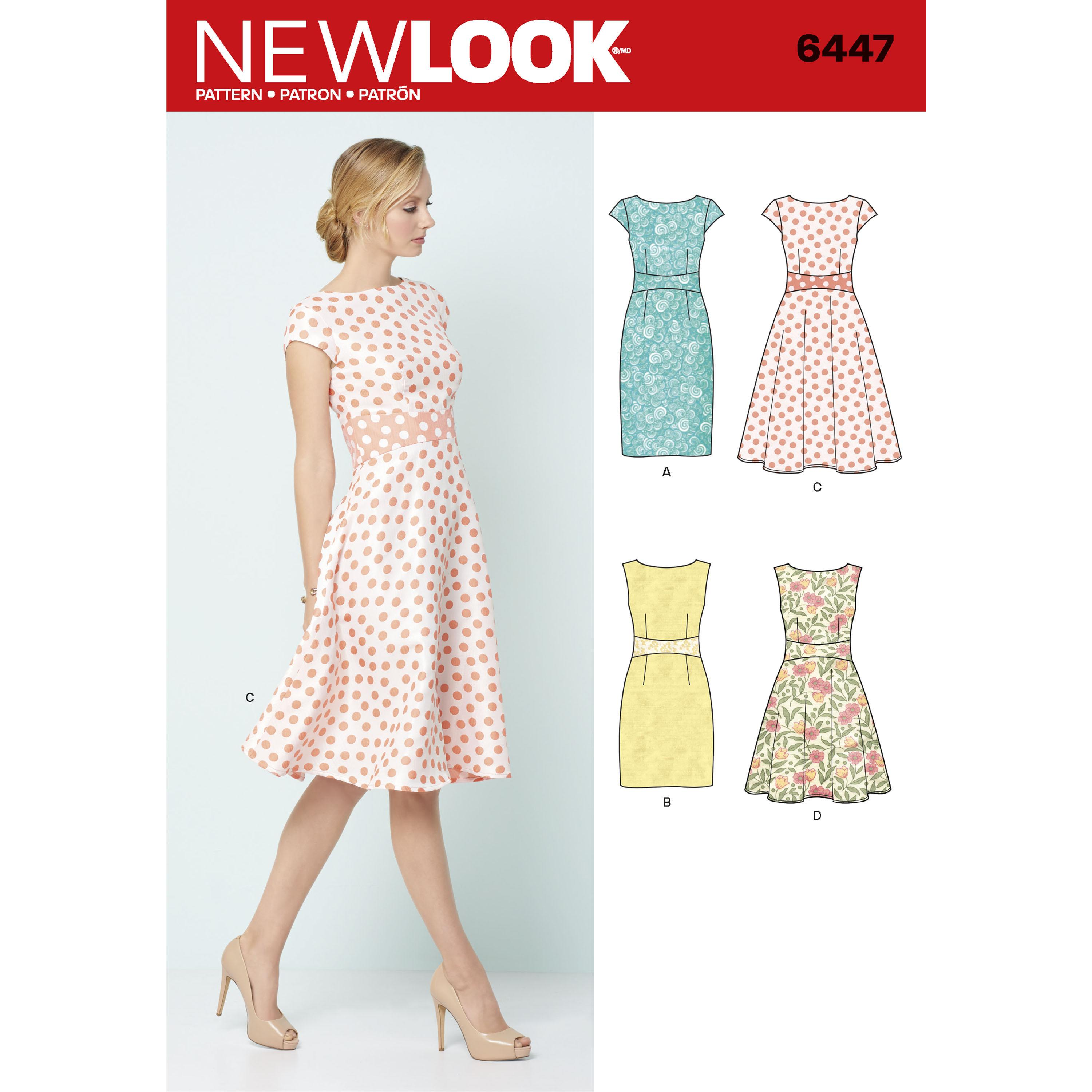 NewLook N6447 Misses' Dresses
