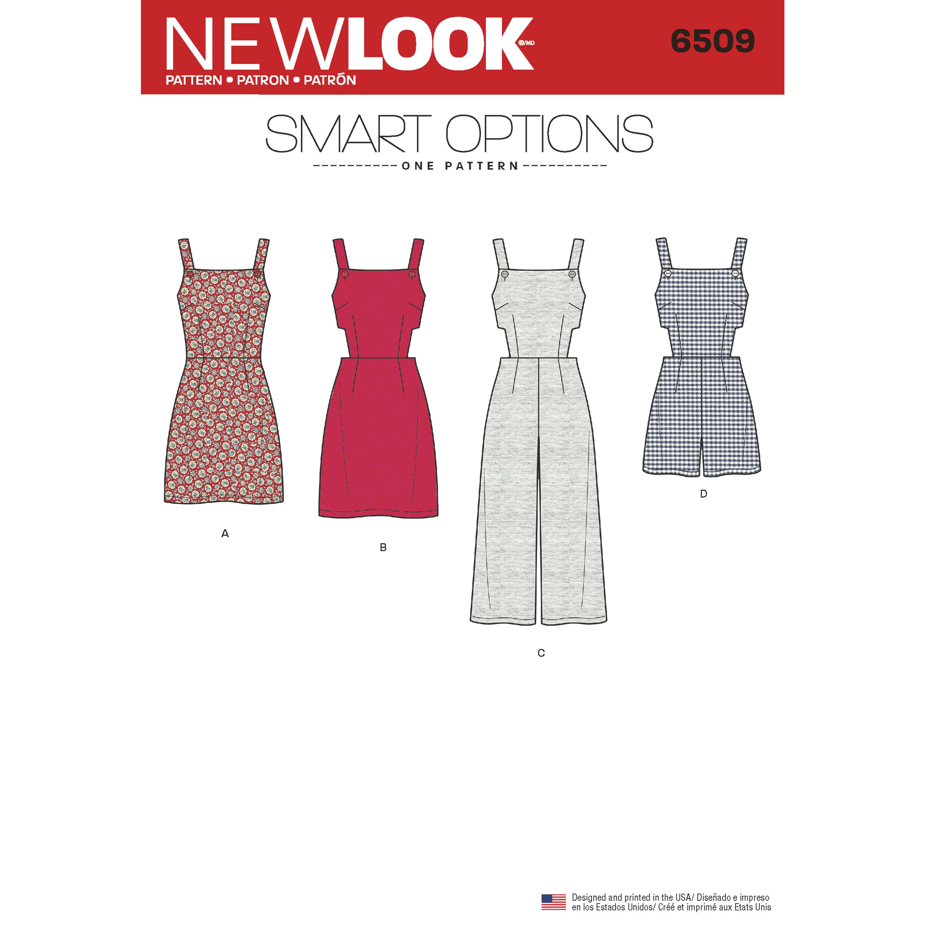 NewLook N6509 Women?s   Jumper, Romper, and Dress with Bodice Variations