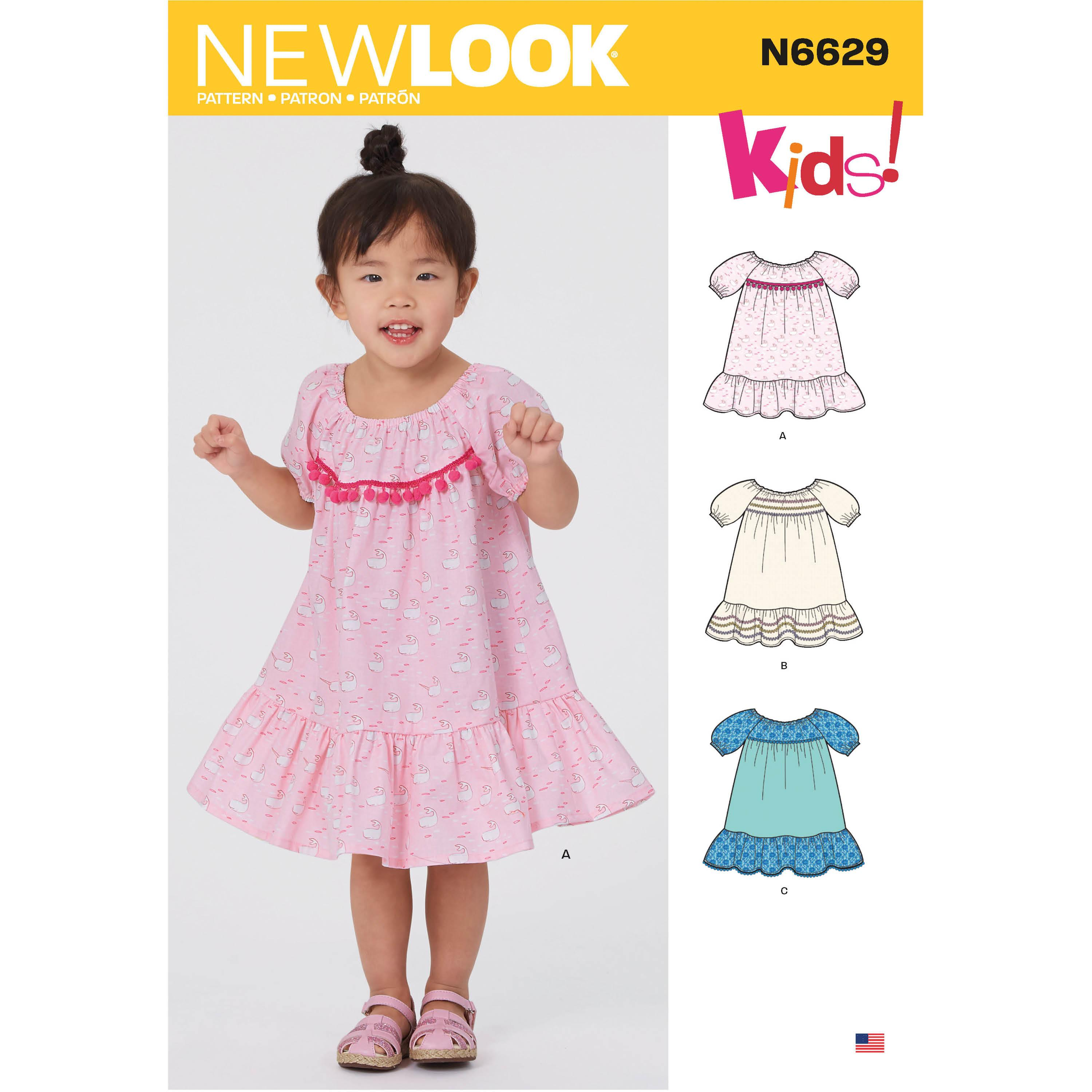 NewLook Sewing Pattern N6629 Toddler's Dresses