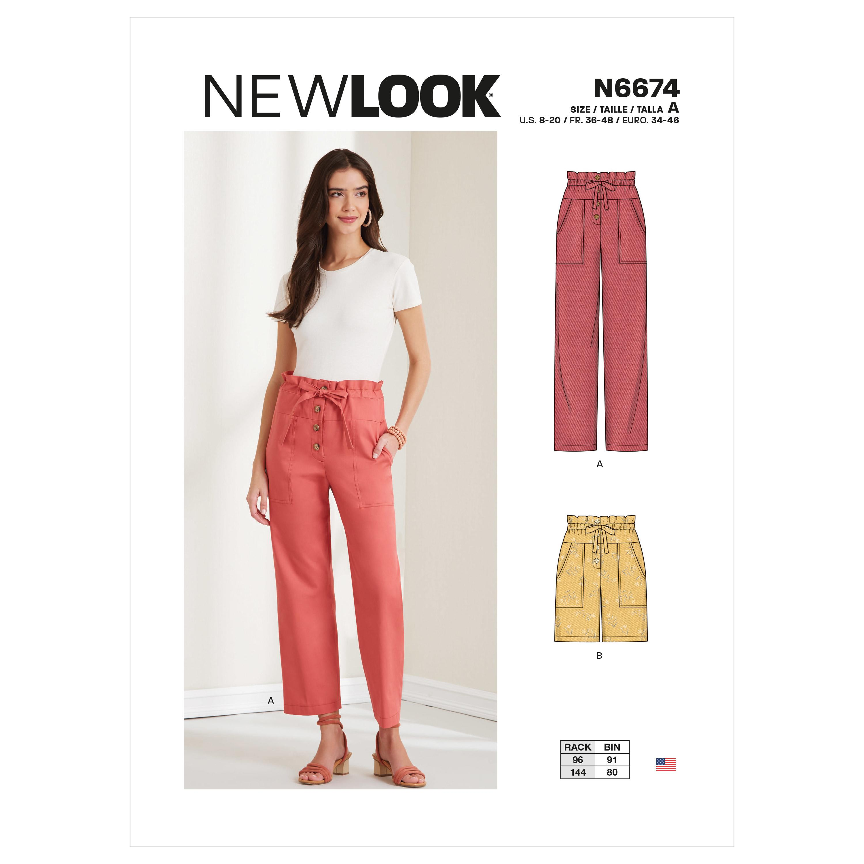 New Look Sewing Pattern N6674 Misses' Trousers & Shorts