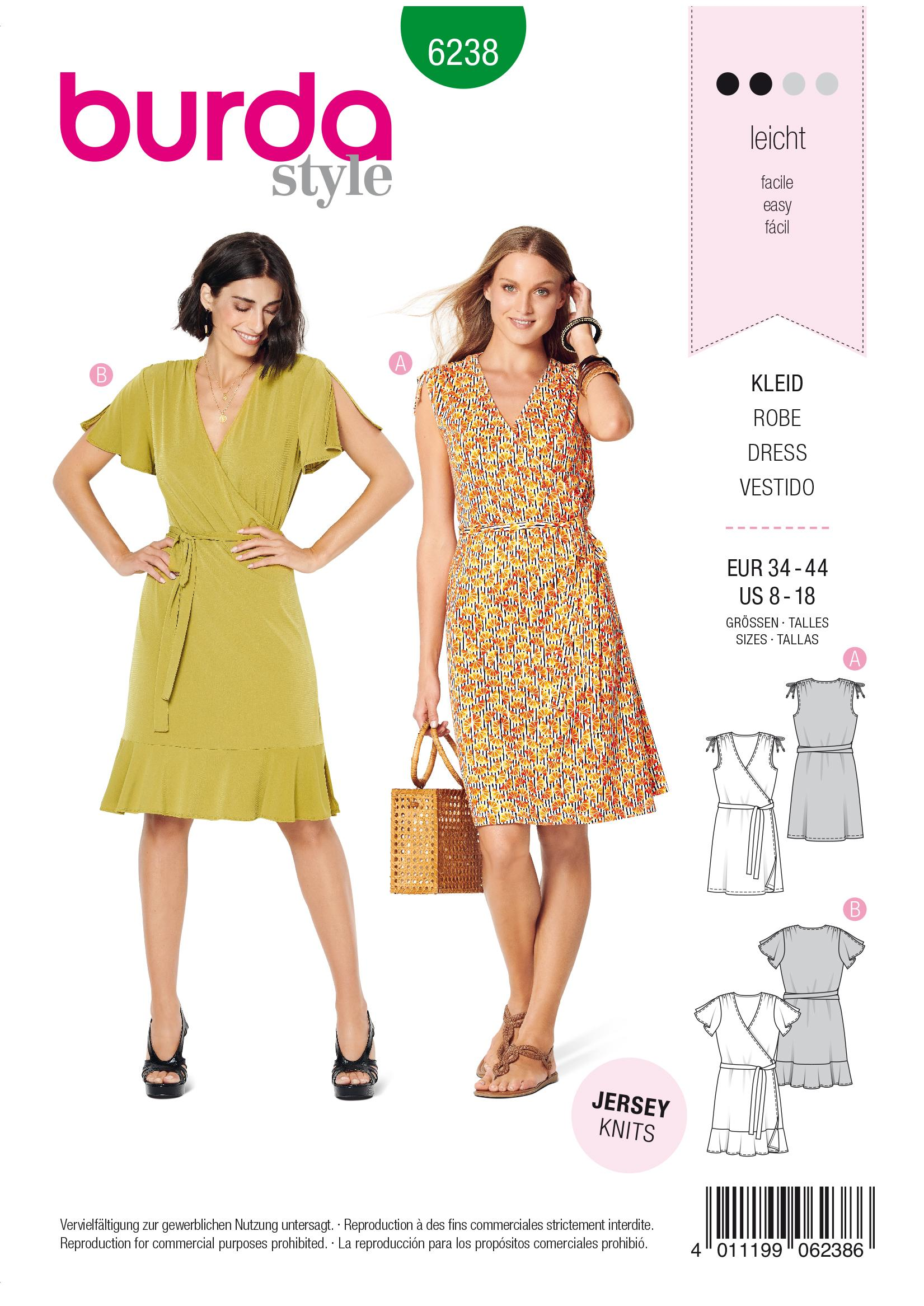 Burda B6238 Wrap Dress Sewing Pattern