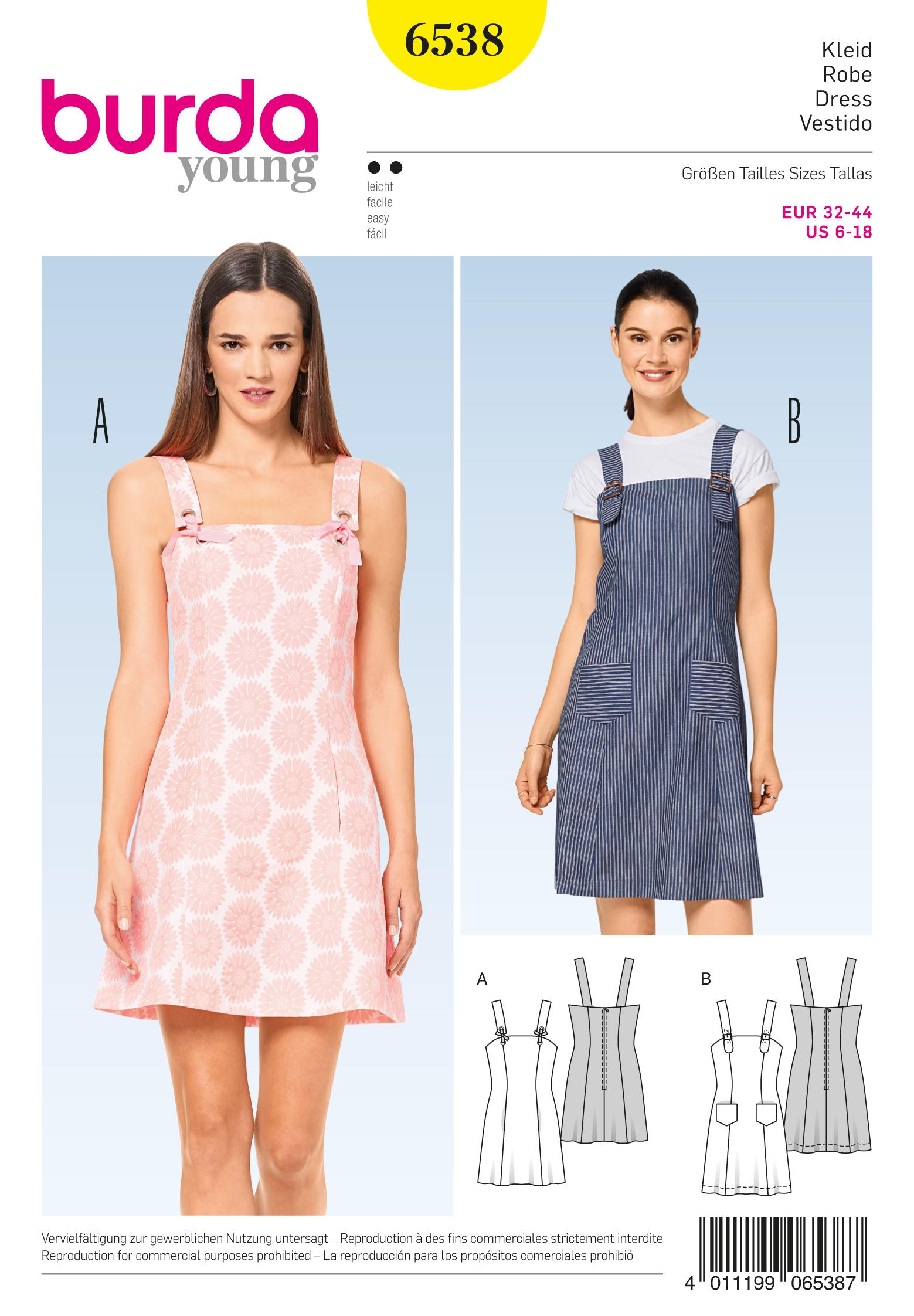 Burda B6538 Misses' Strappy Dress