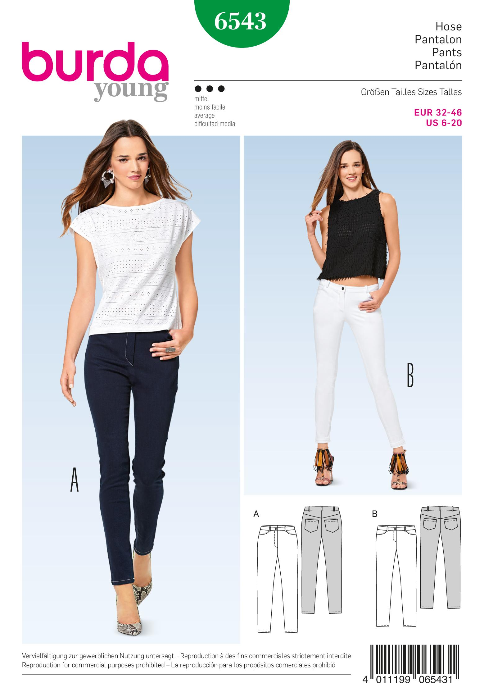 Burda B6543 Misses' Pants
