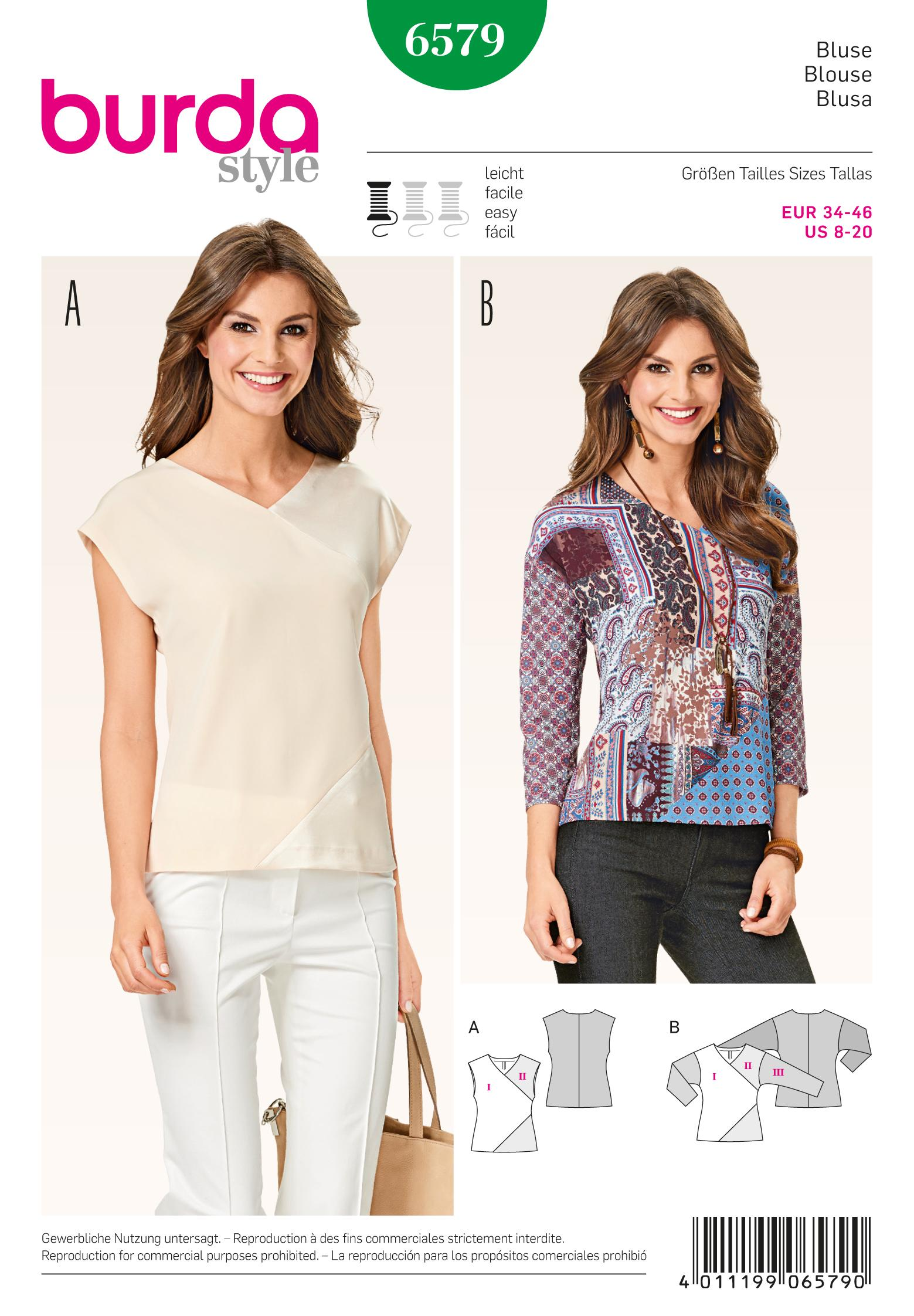 Burda 6579 Blouse