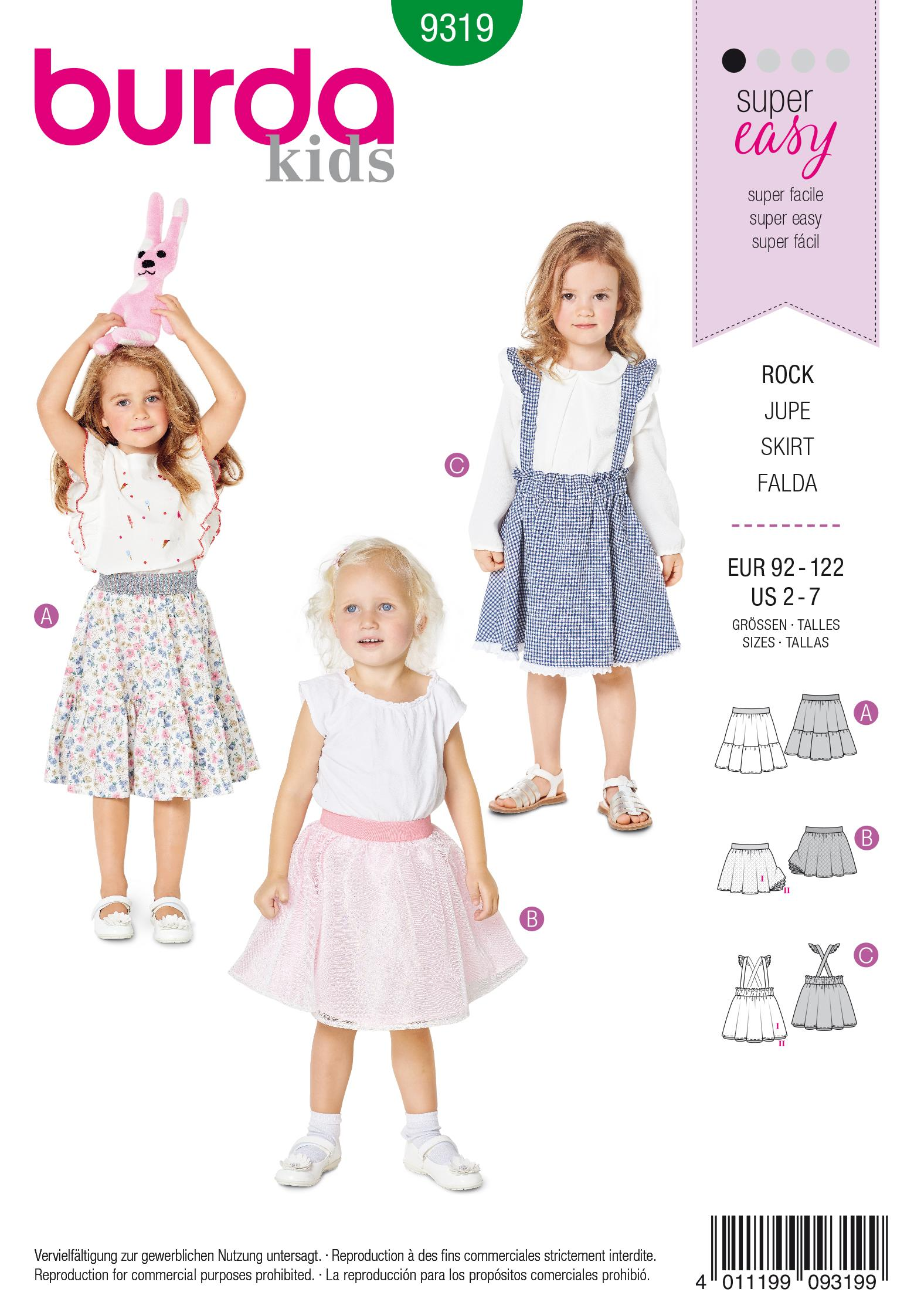 Burda 9319 Child's pinafore skirt