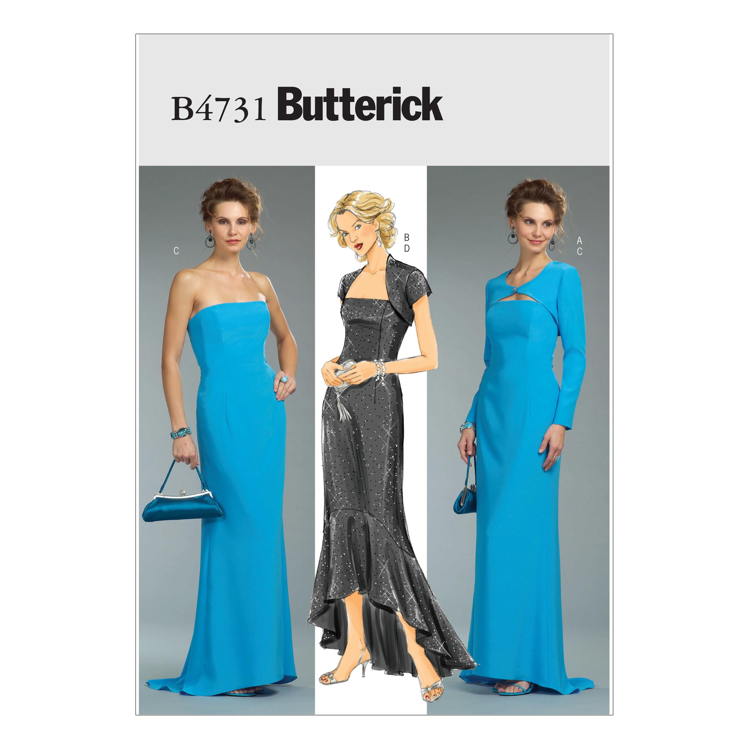 Butterick B4731 Misses'/Misses' Petite Shrug and Dress