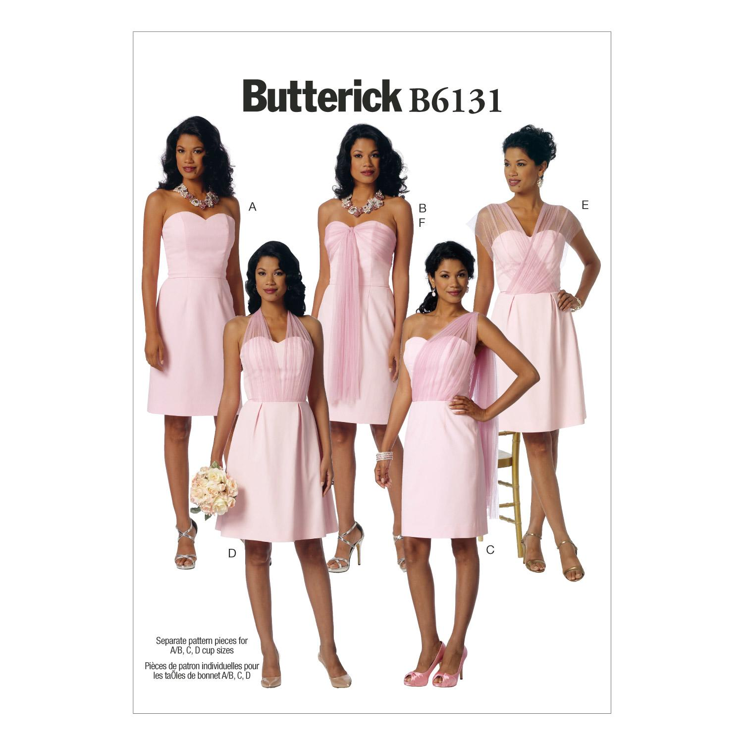 Butterick B6131 Misses' Dress and Sash
