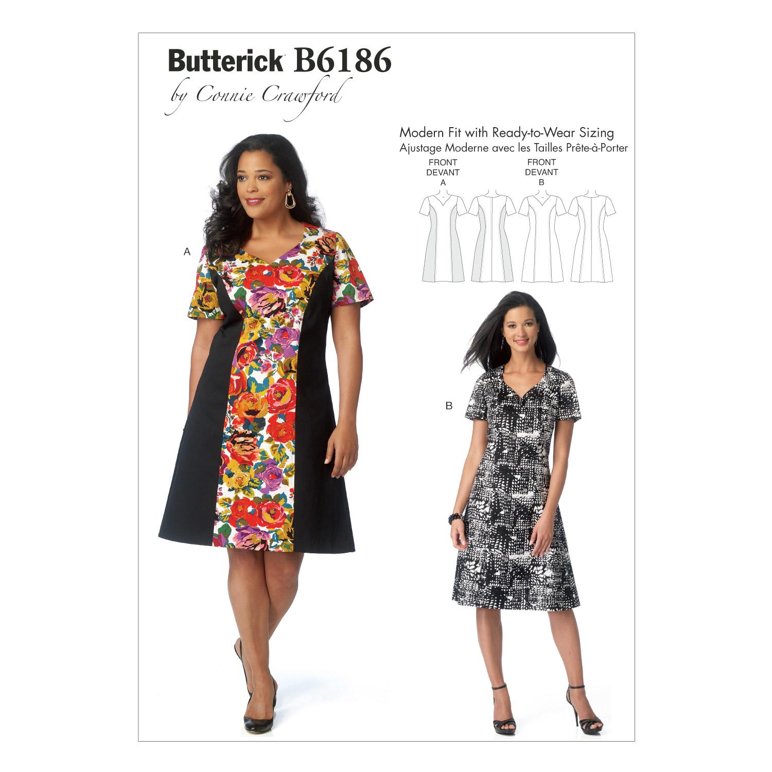 Butterick B6186 Misses'/Women's Dress