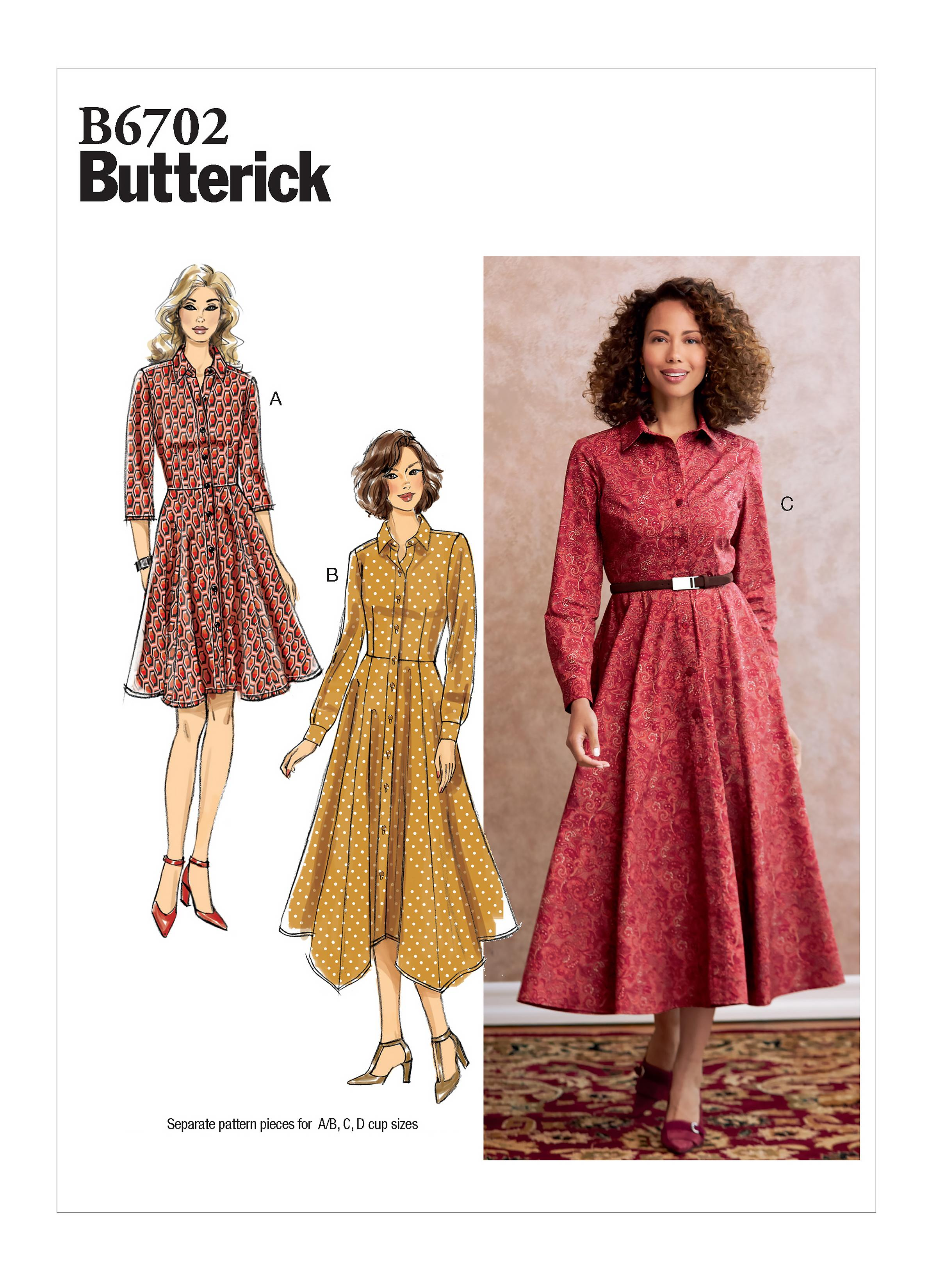 Butterick B6702 Misses' Dress