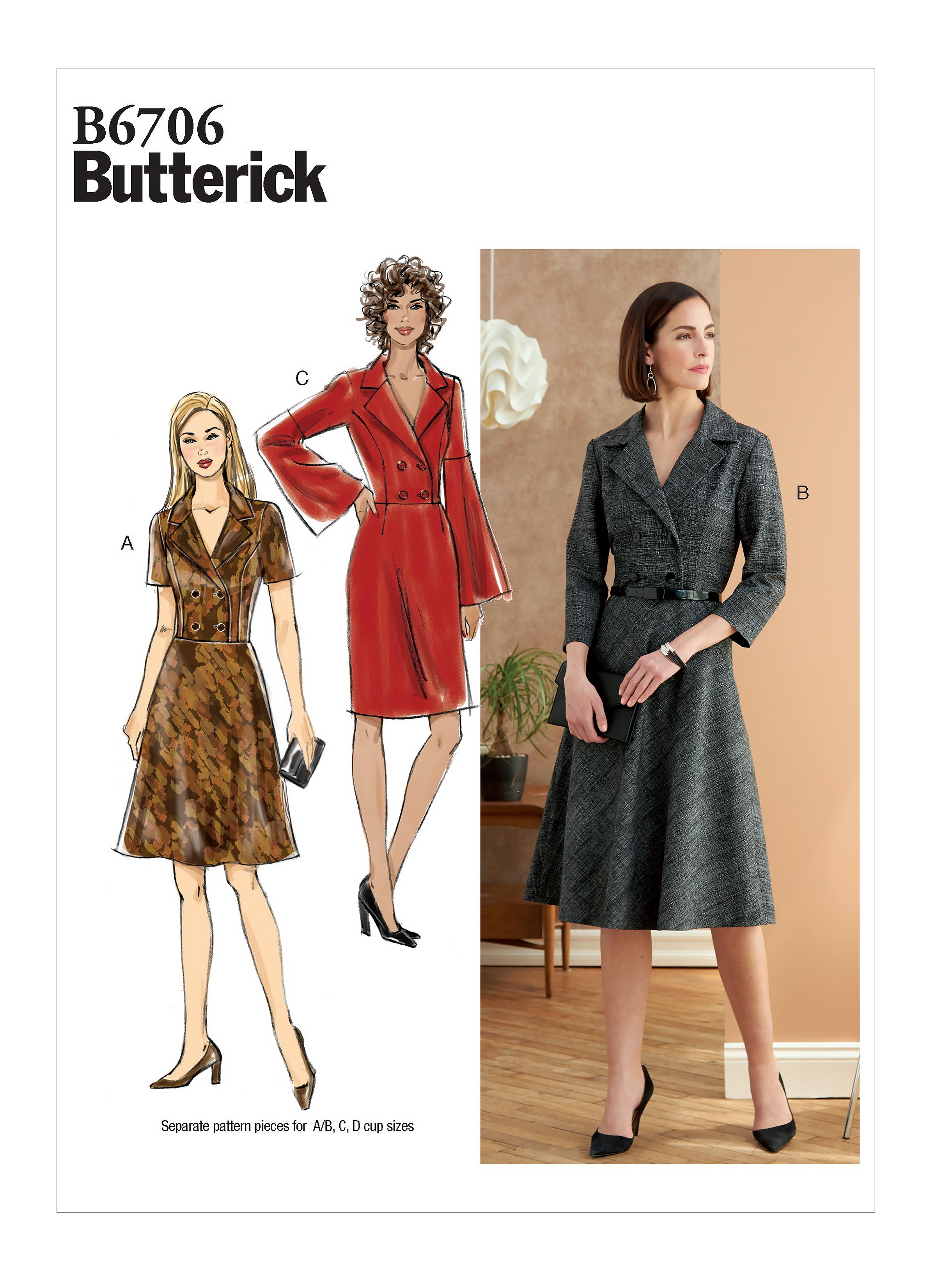 Butterick B6706 Misses' Dress