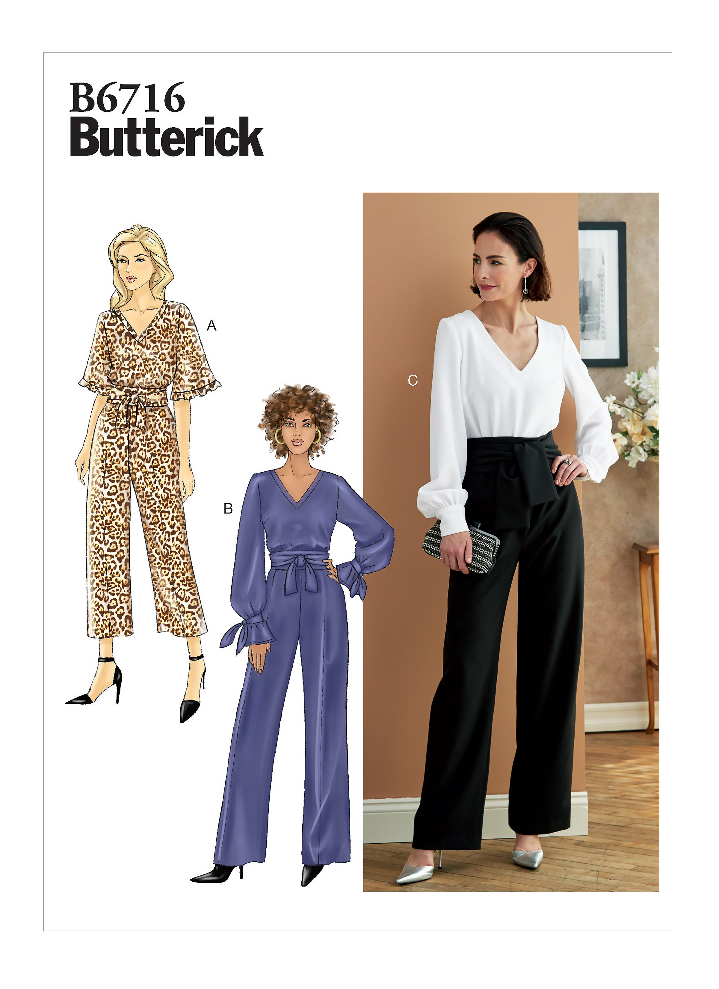 Butterick B6716 Misses' Jumpsuit & Sash