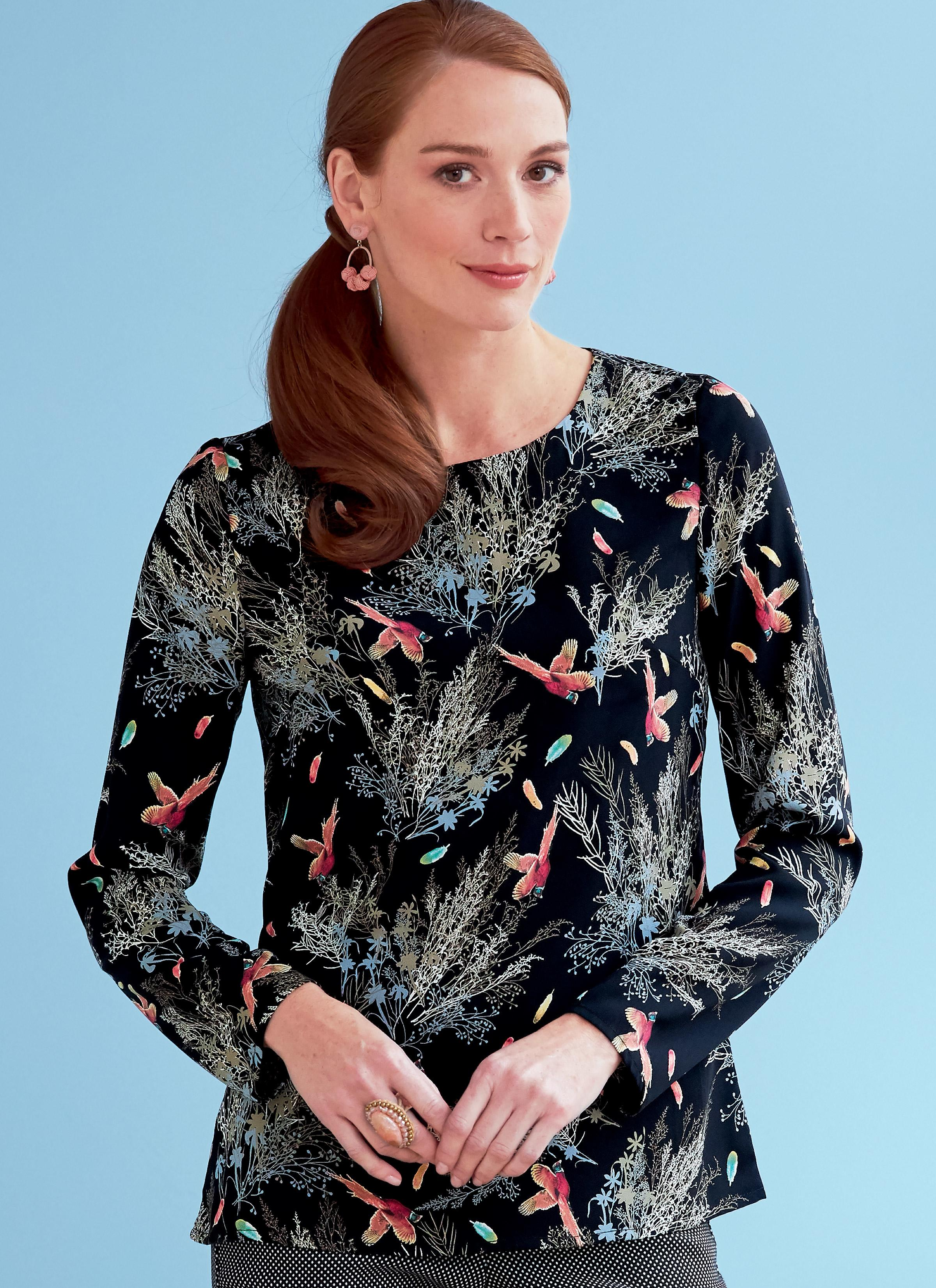 Butterick B6754 Misses' Keyhole-Closure Tops
