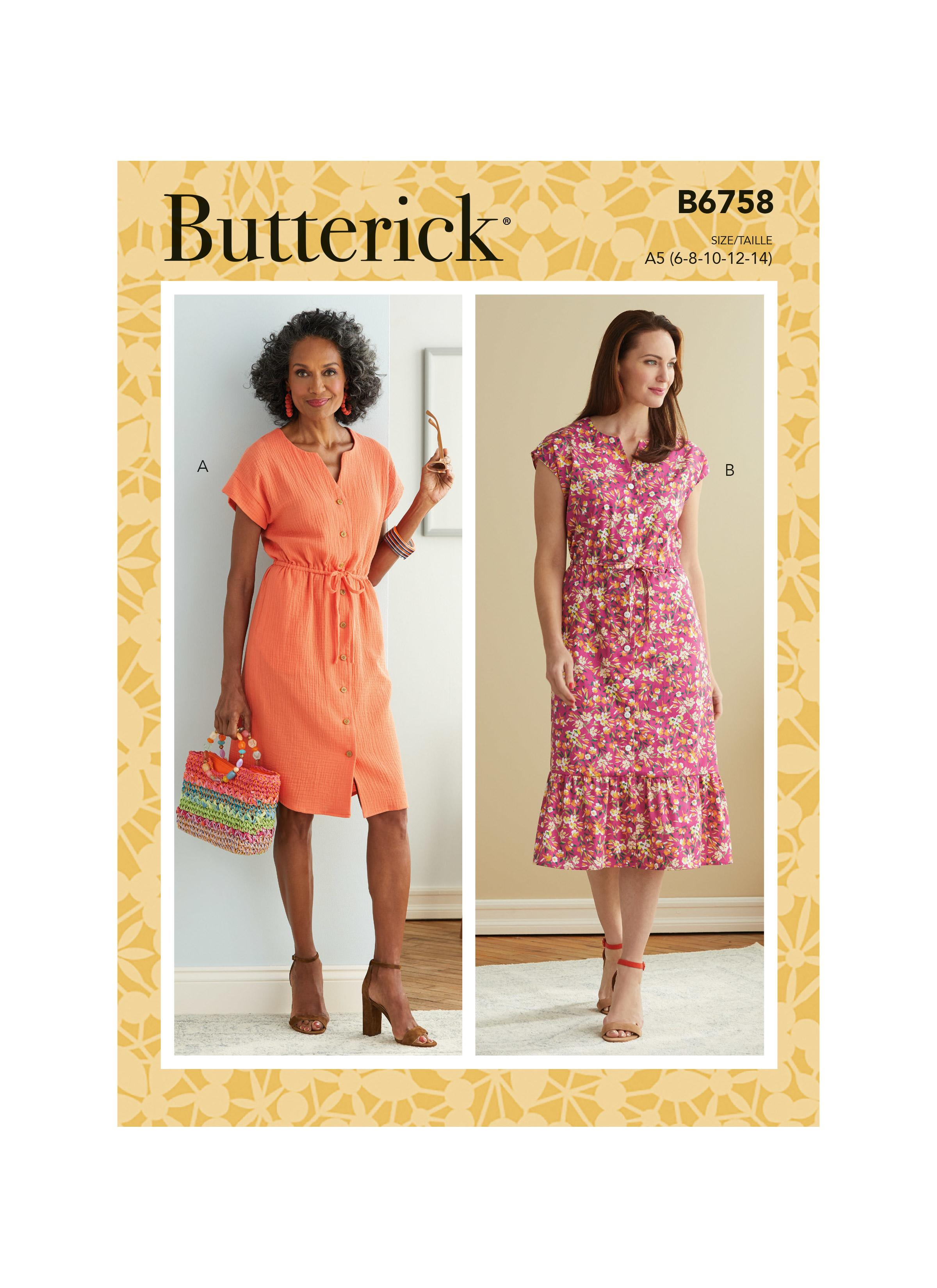 Butterick B6758 Misses' & Misses' Petite Dress