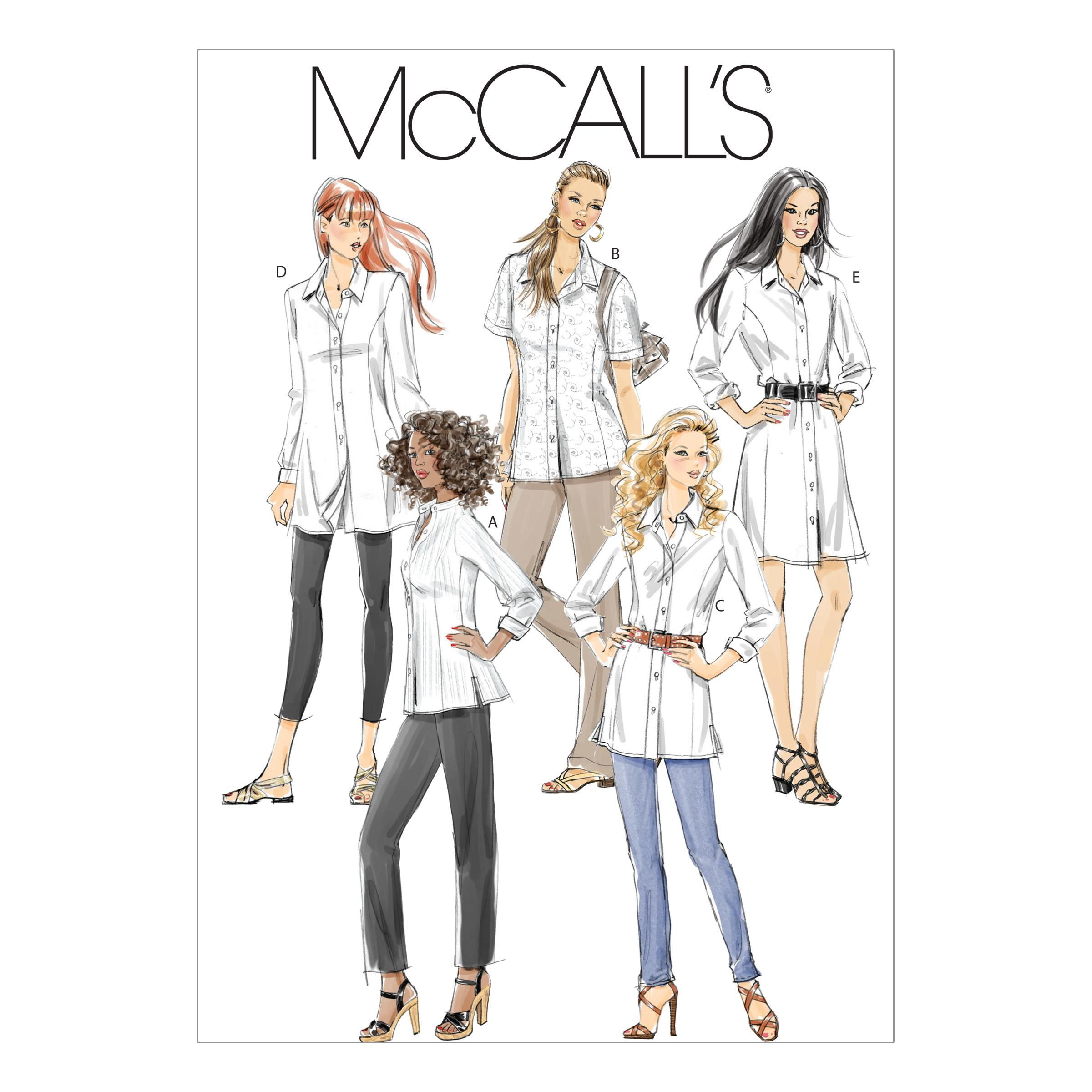 McCalls M6124 Blouses/Shirts, Plus Size