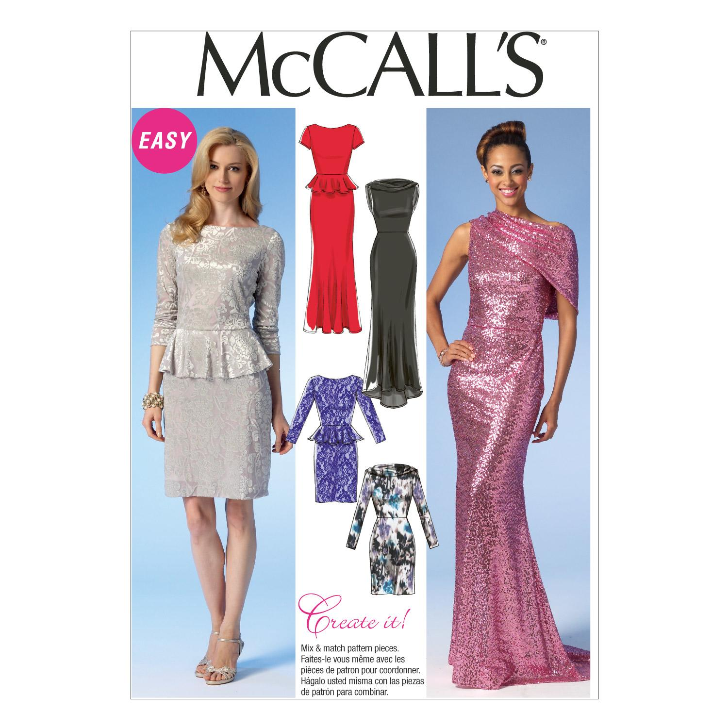 McCalls M7047 Dresses, Evening/Prom