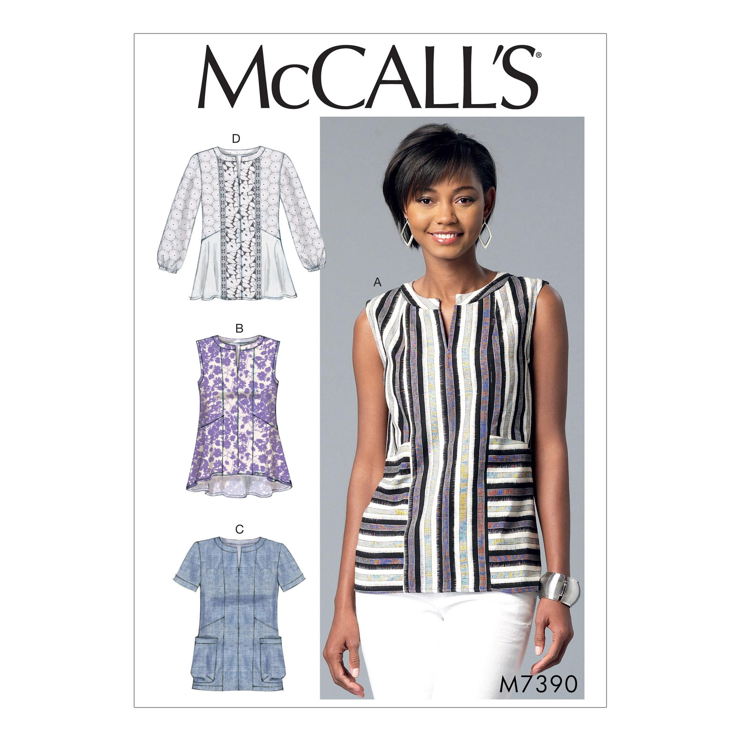 McCalls M7390 Misses Tops