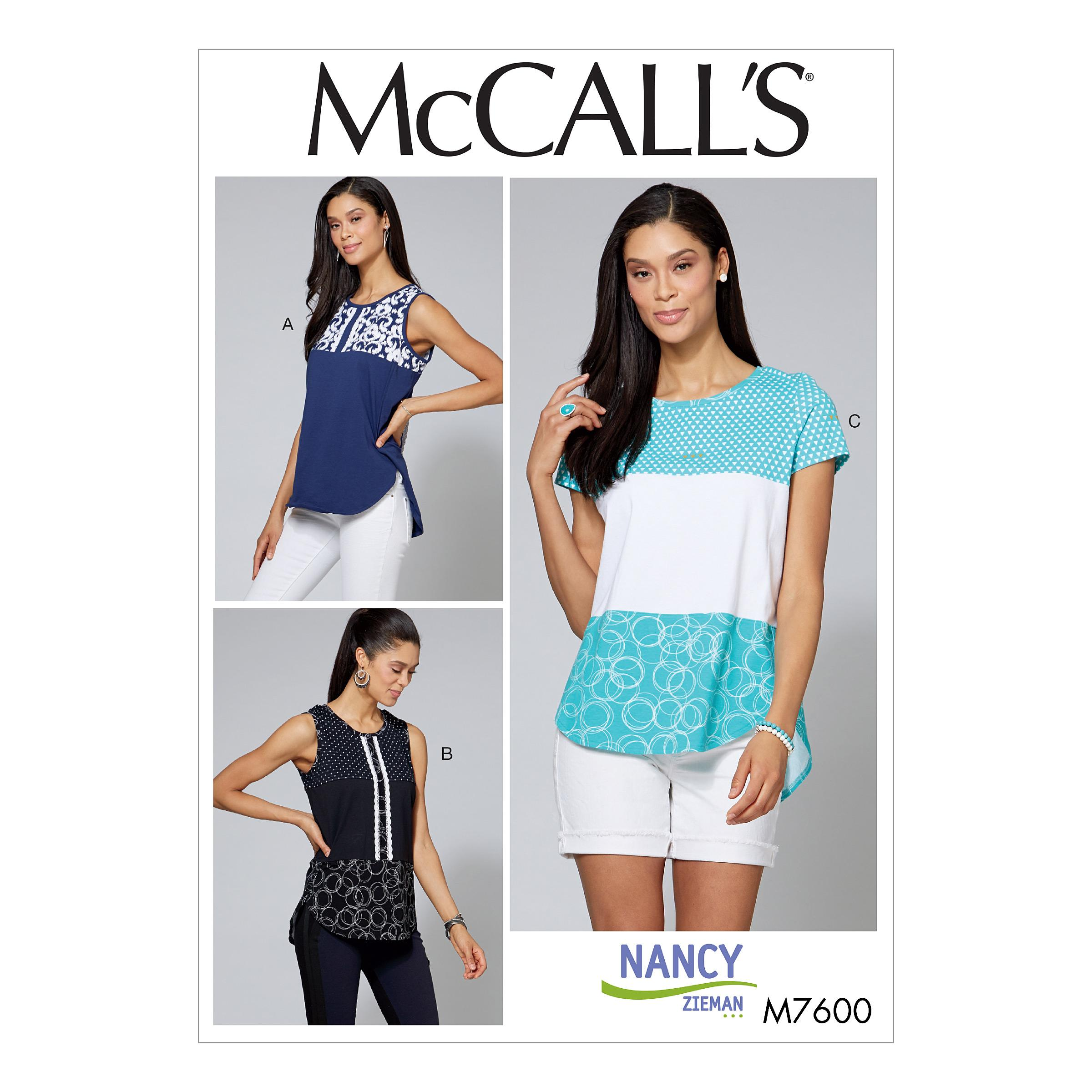 McCalls M7600 Misses Tops