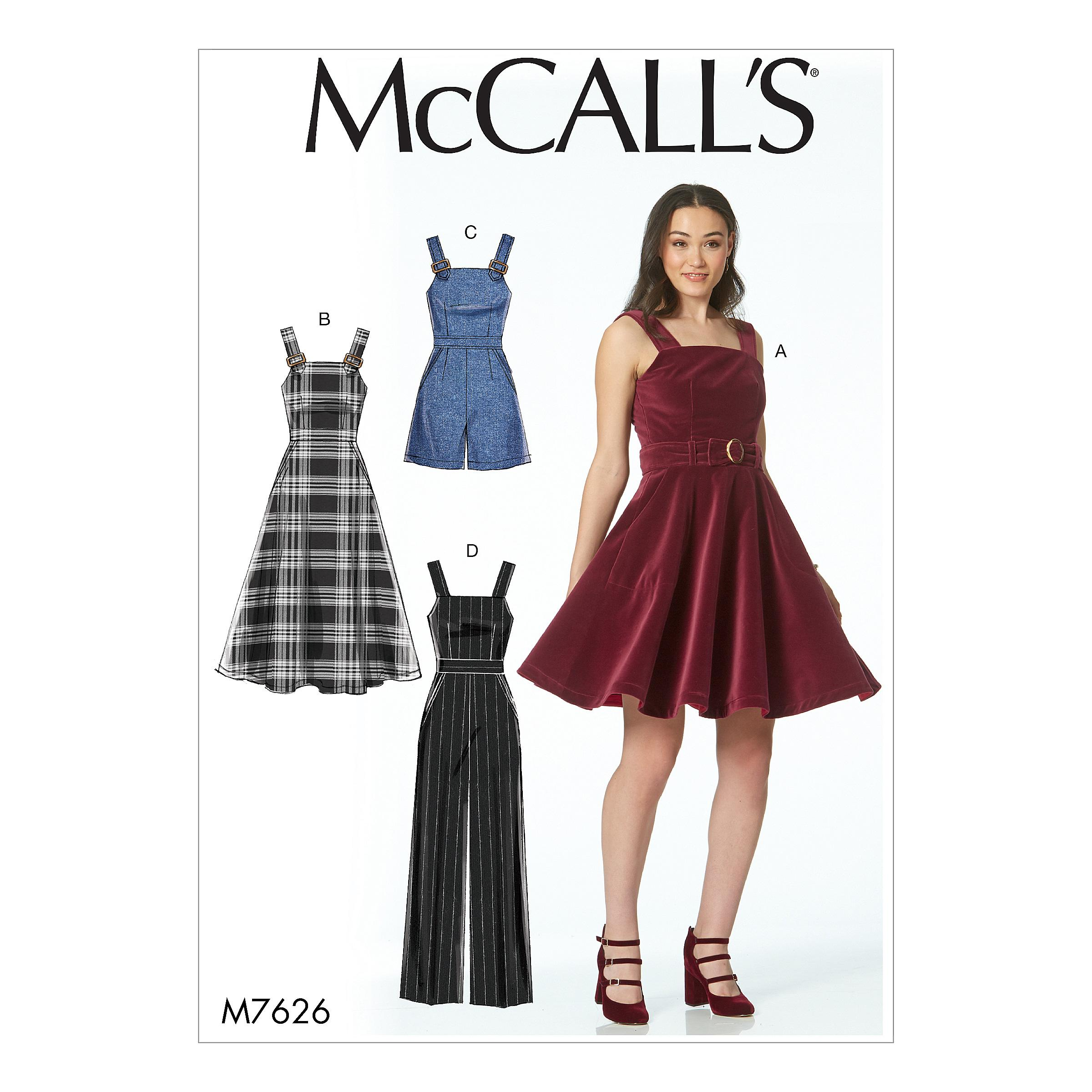 McCalls M7626 Misses Dresses, Misses Pants, Jumpsuits & Shorts, Misses Prom, Evening & Bridal