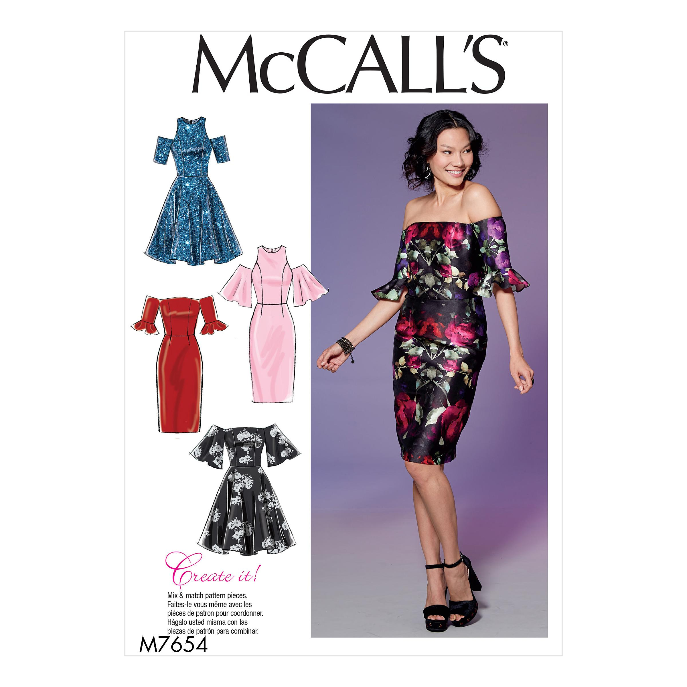 McCalls M7654 Misses Dresses, Misses Prom, Evening & Bridal