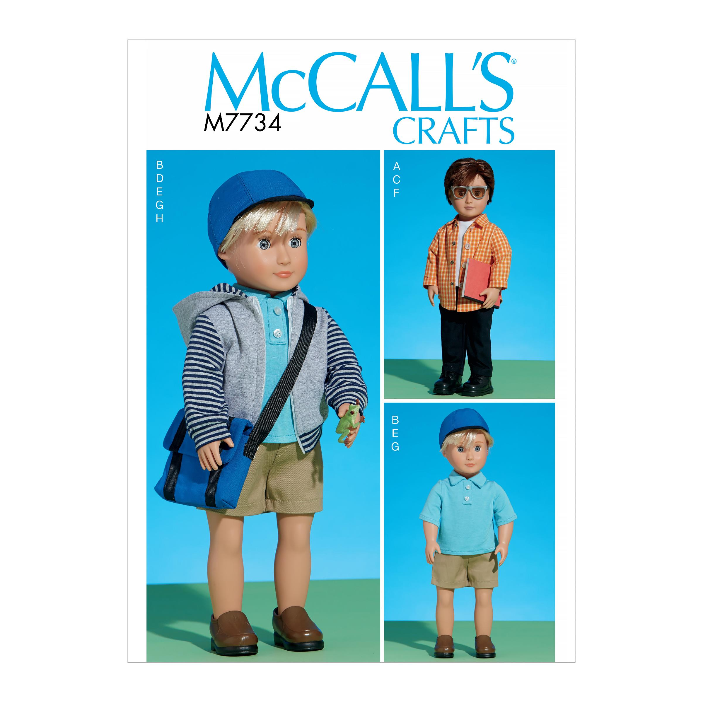 McCalls M7734 Crafts Dolls & Toys