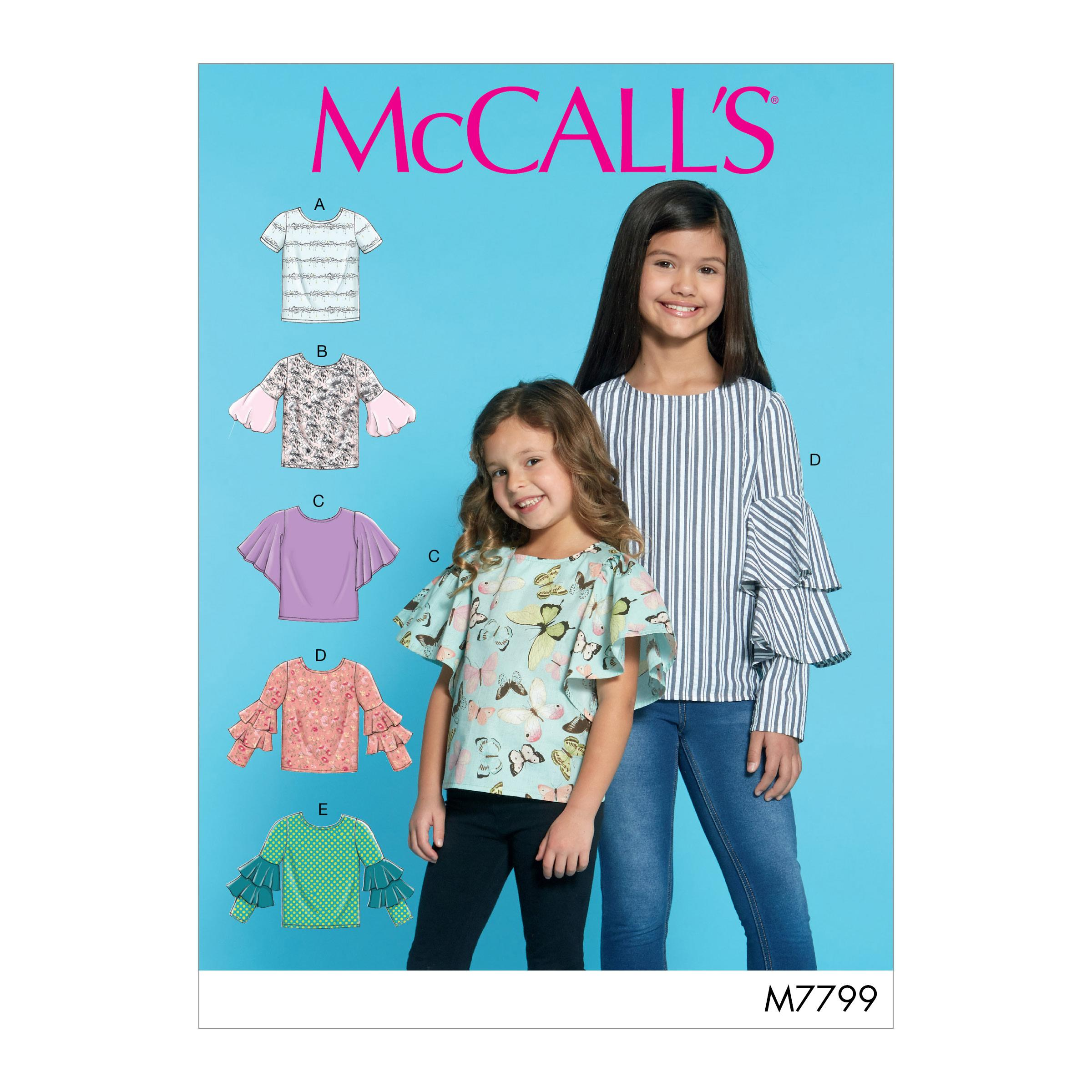 McCalls M7799 Kids Children, Kids Girls & Boys