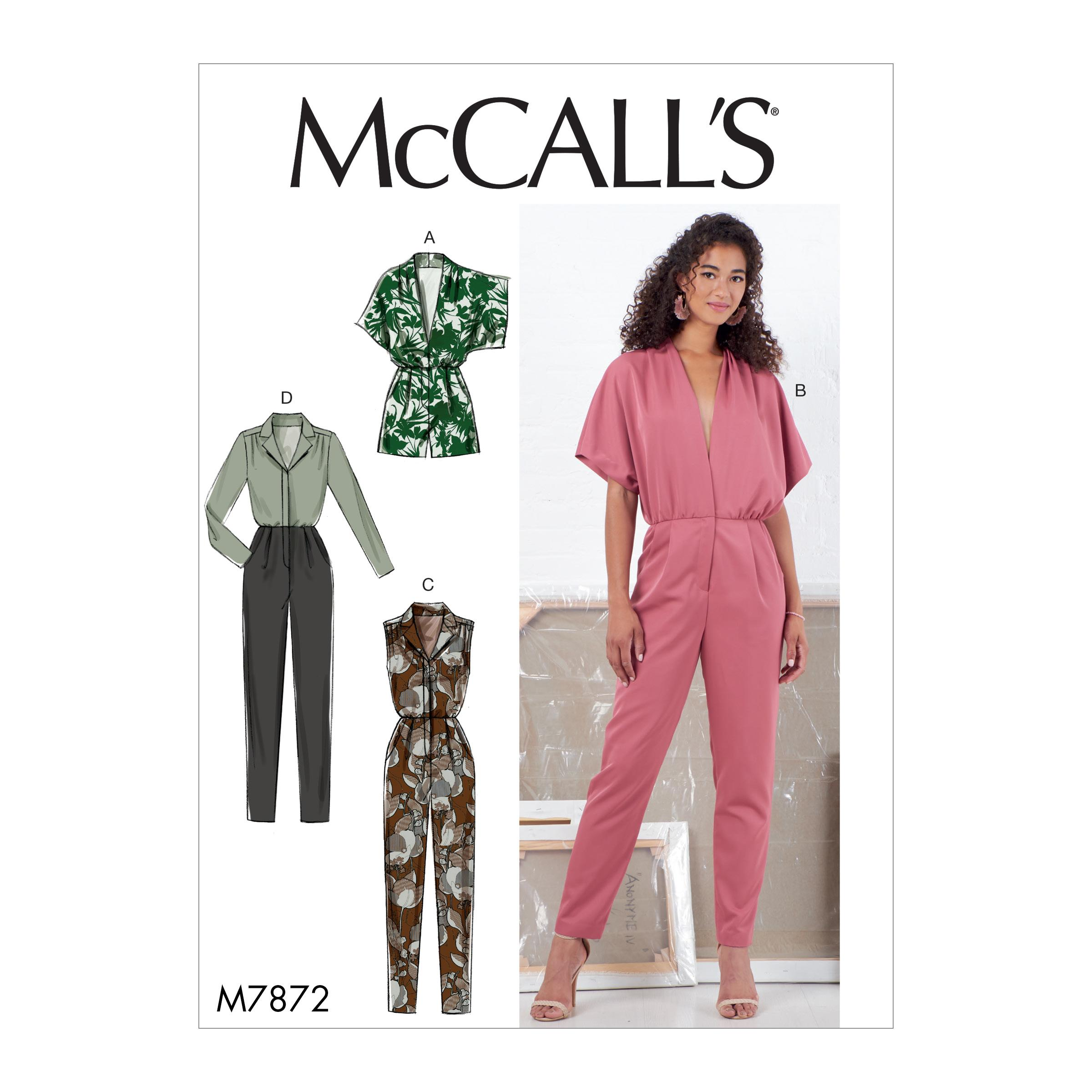 McCalls M7872 Misses Pants, Jumpsuits & Shorts
