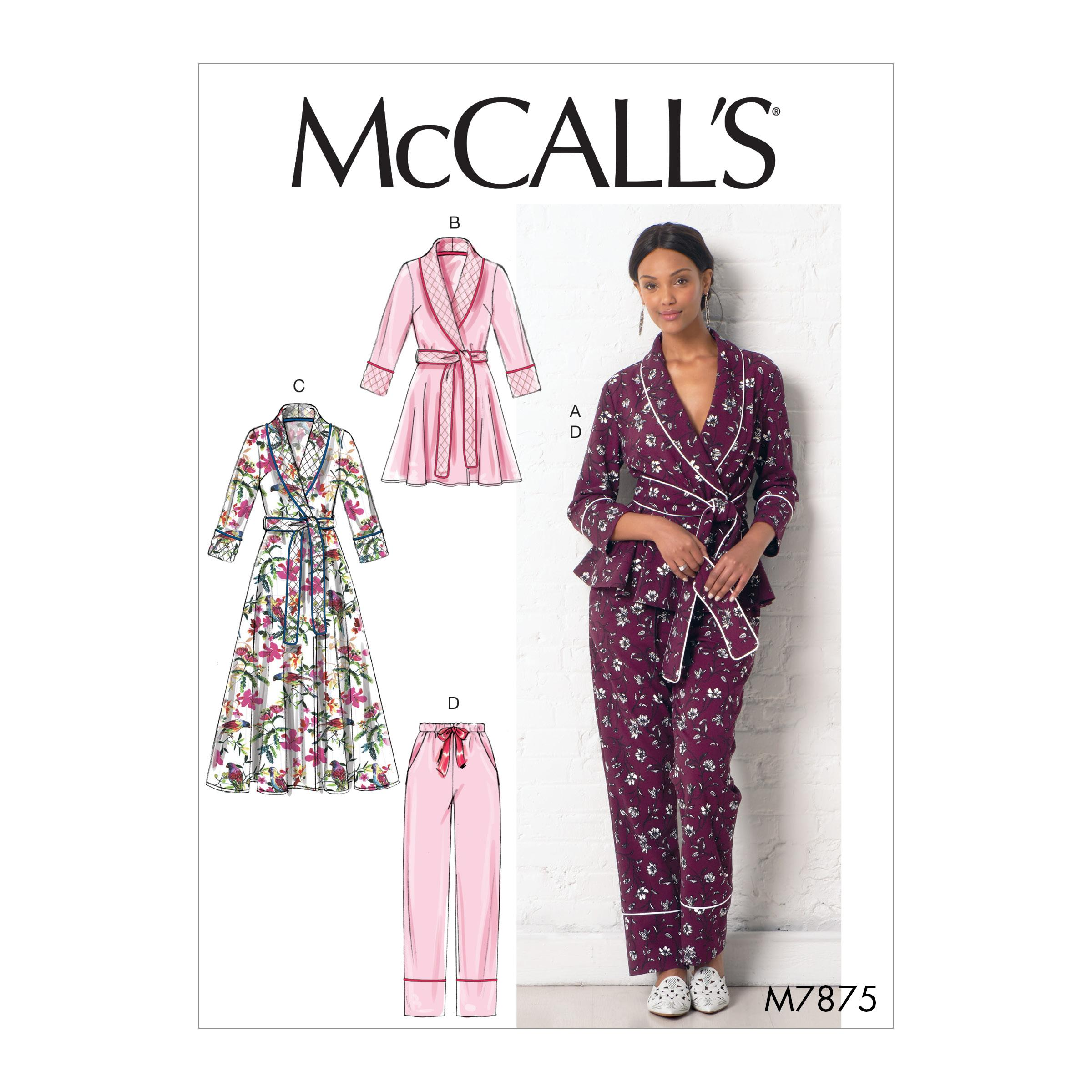 McCalls M7875 Misses Jackets & Vests, Misses Pants, Jumpsuits & Shorts, Misses Coordinates