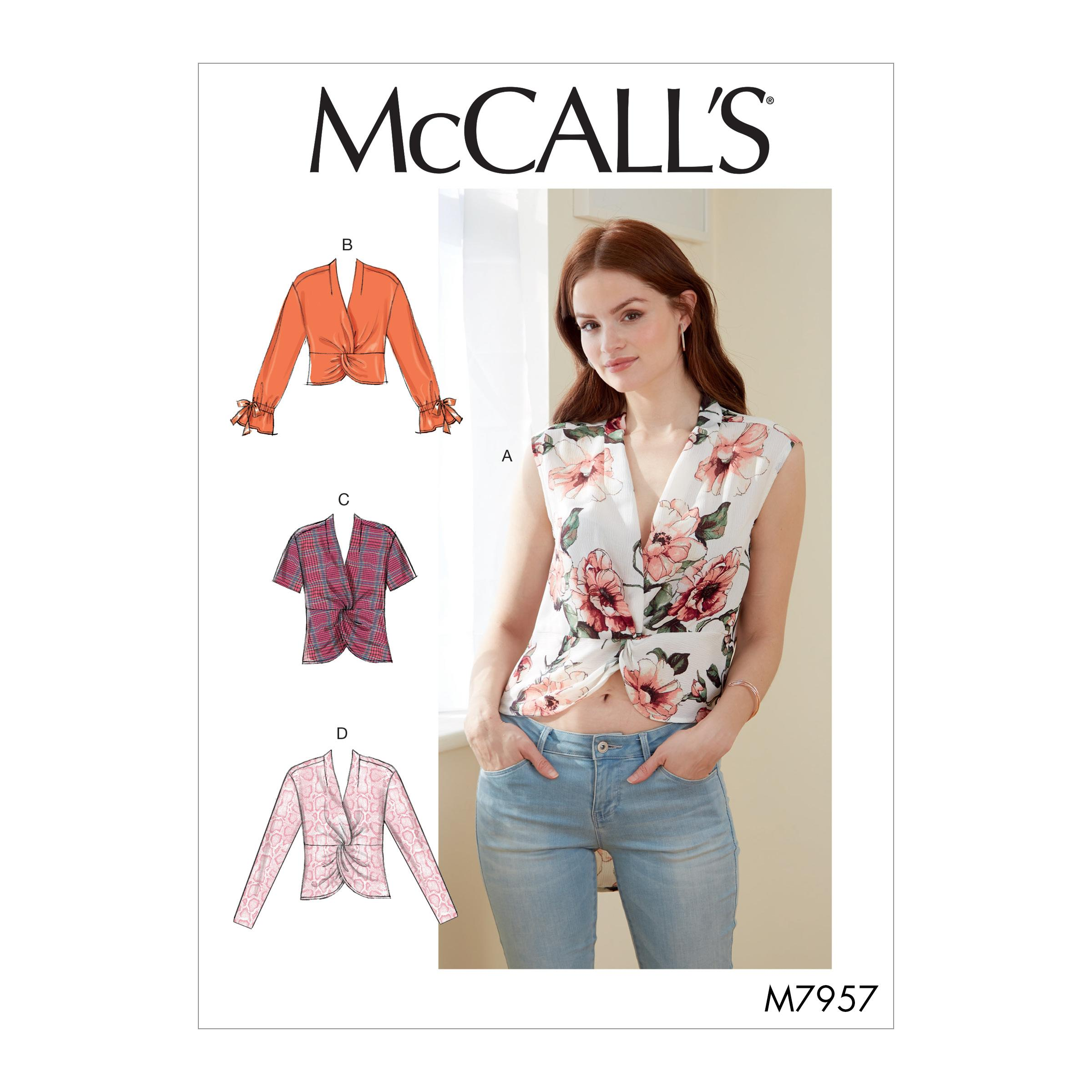 McCalls M7957 Misses Tops