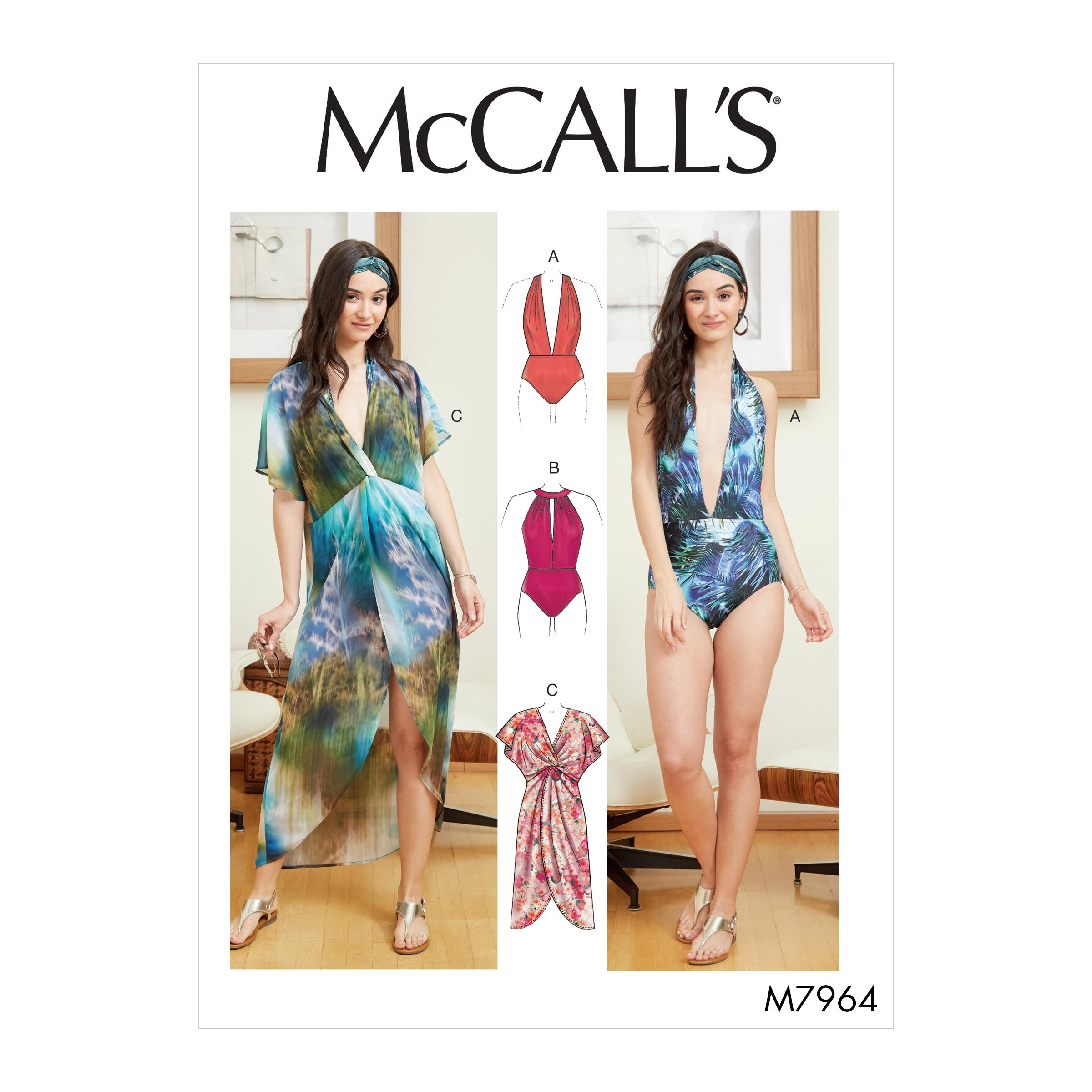 McCalls M7964 Misses Swim & Activewear