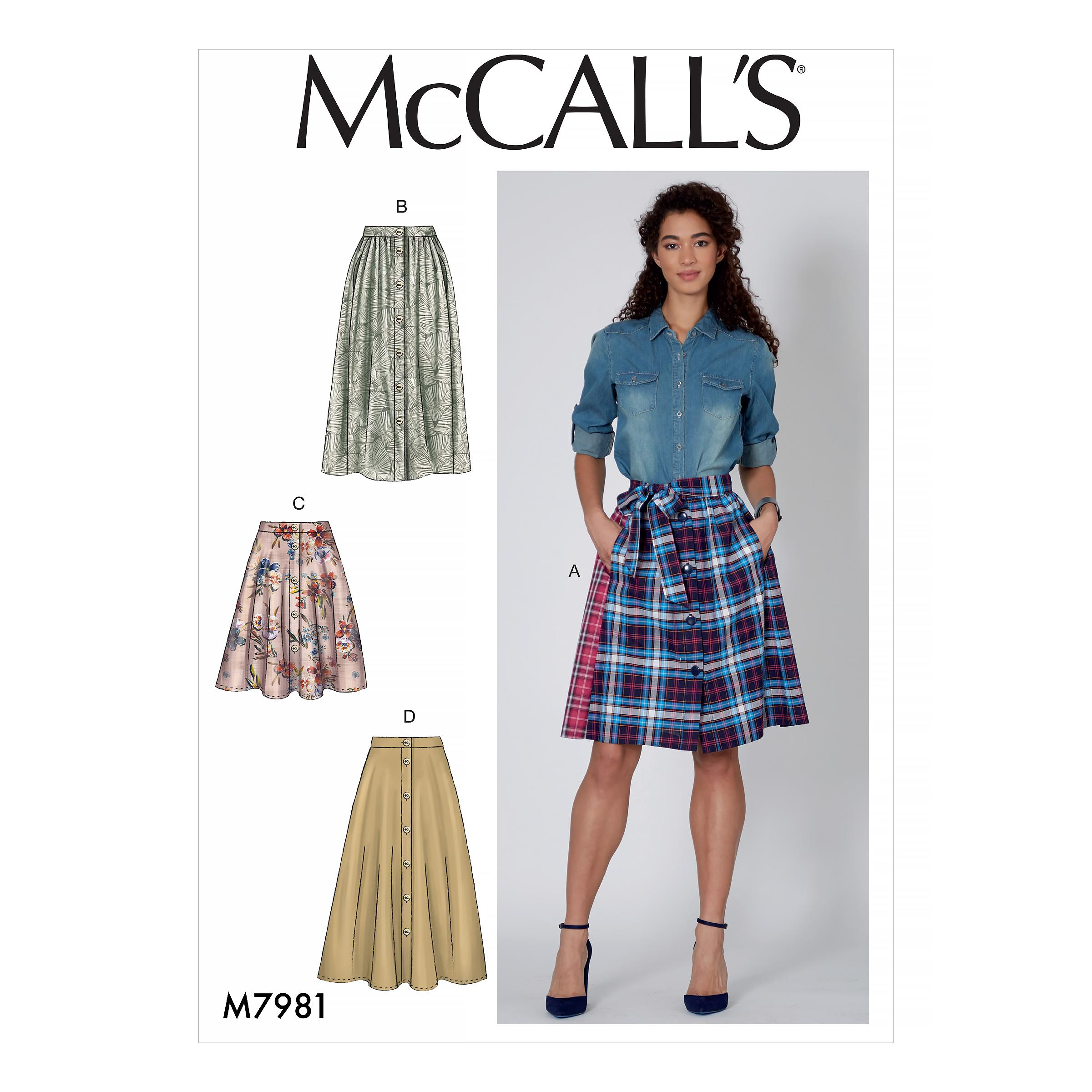 McCalls M7981 Misses Skirts