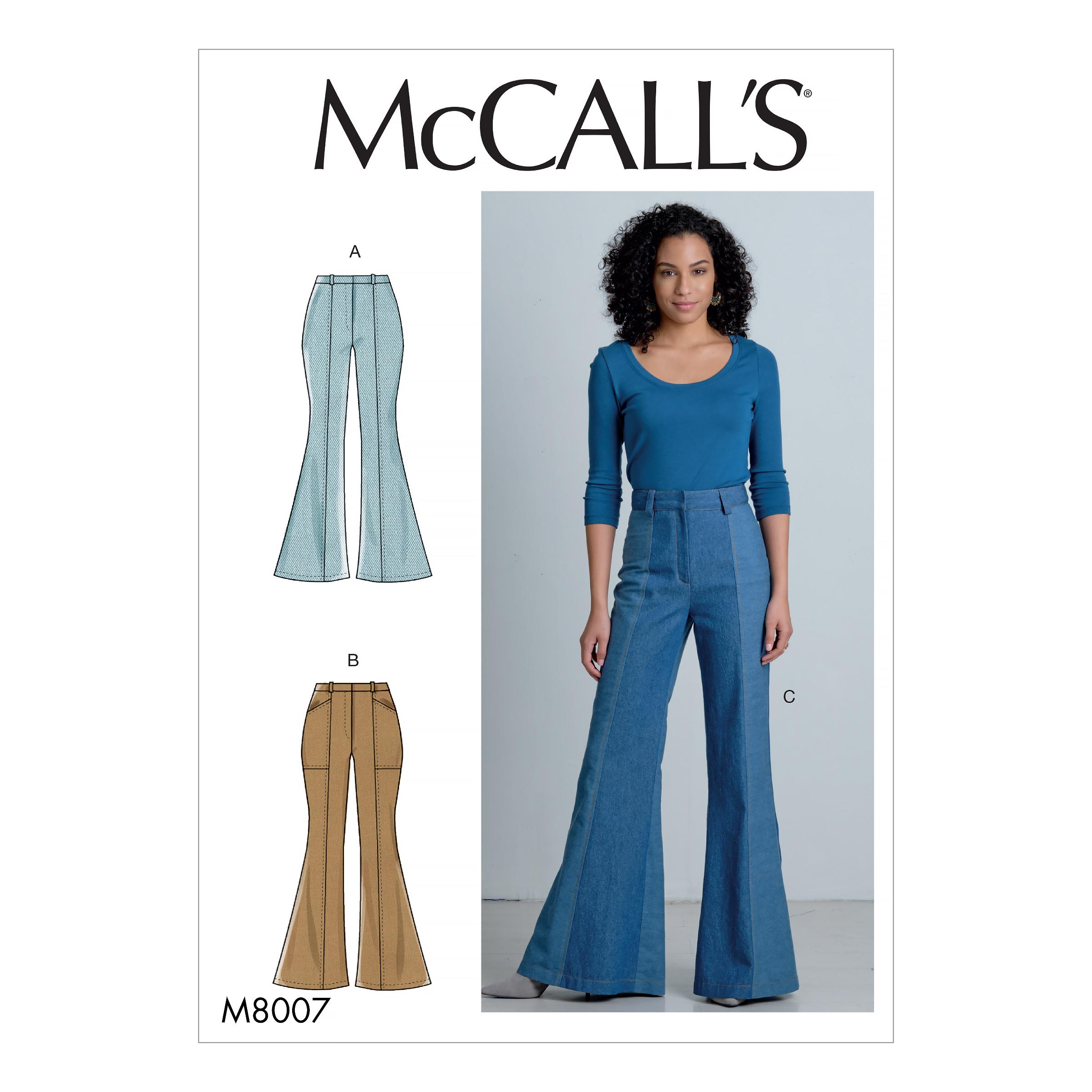 McCalls M8007 Misses Pants, Jumpsuits & Shorts