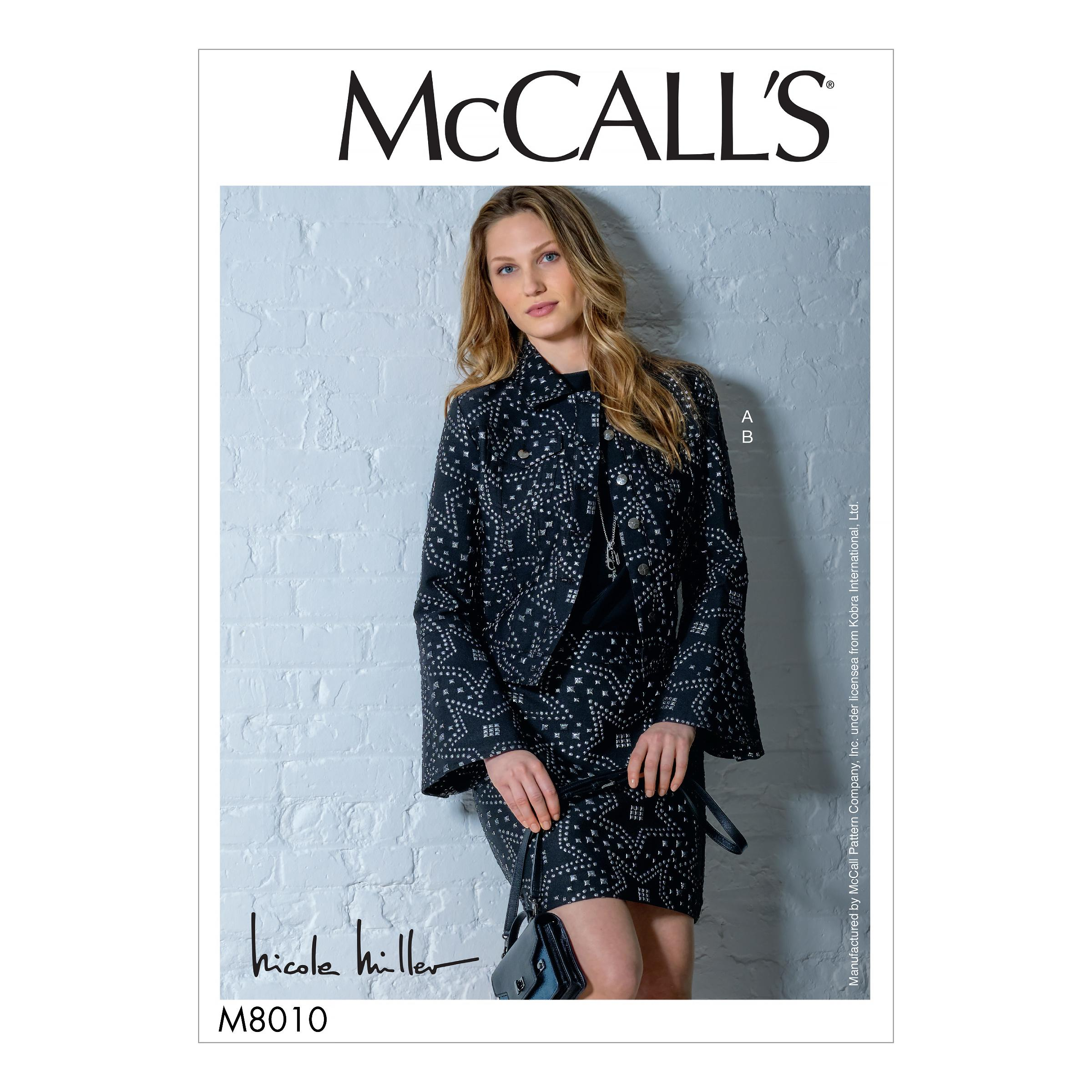 McCalls M8010 Misses Skirts, Misses Jackets & Vests, Misses Coordinates