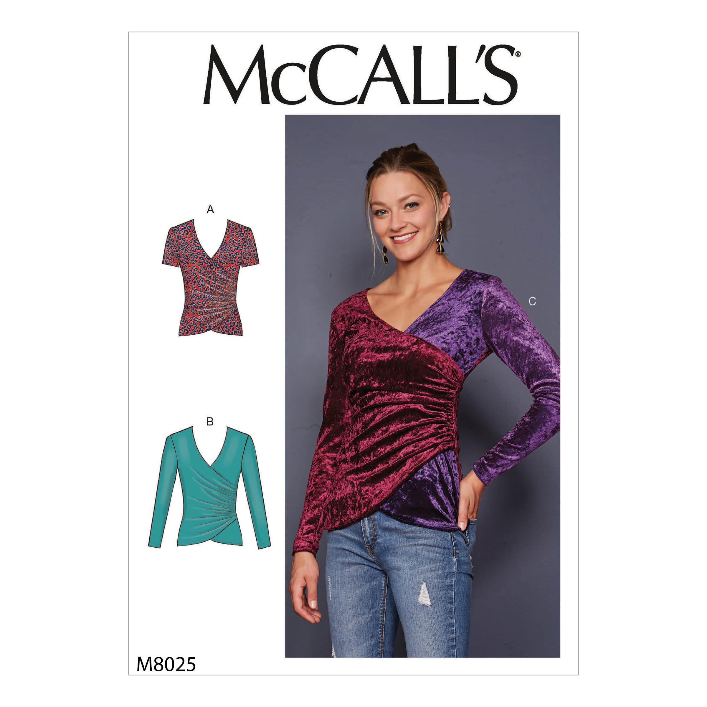McCalls M8025 Misses Tops