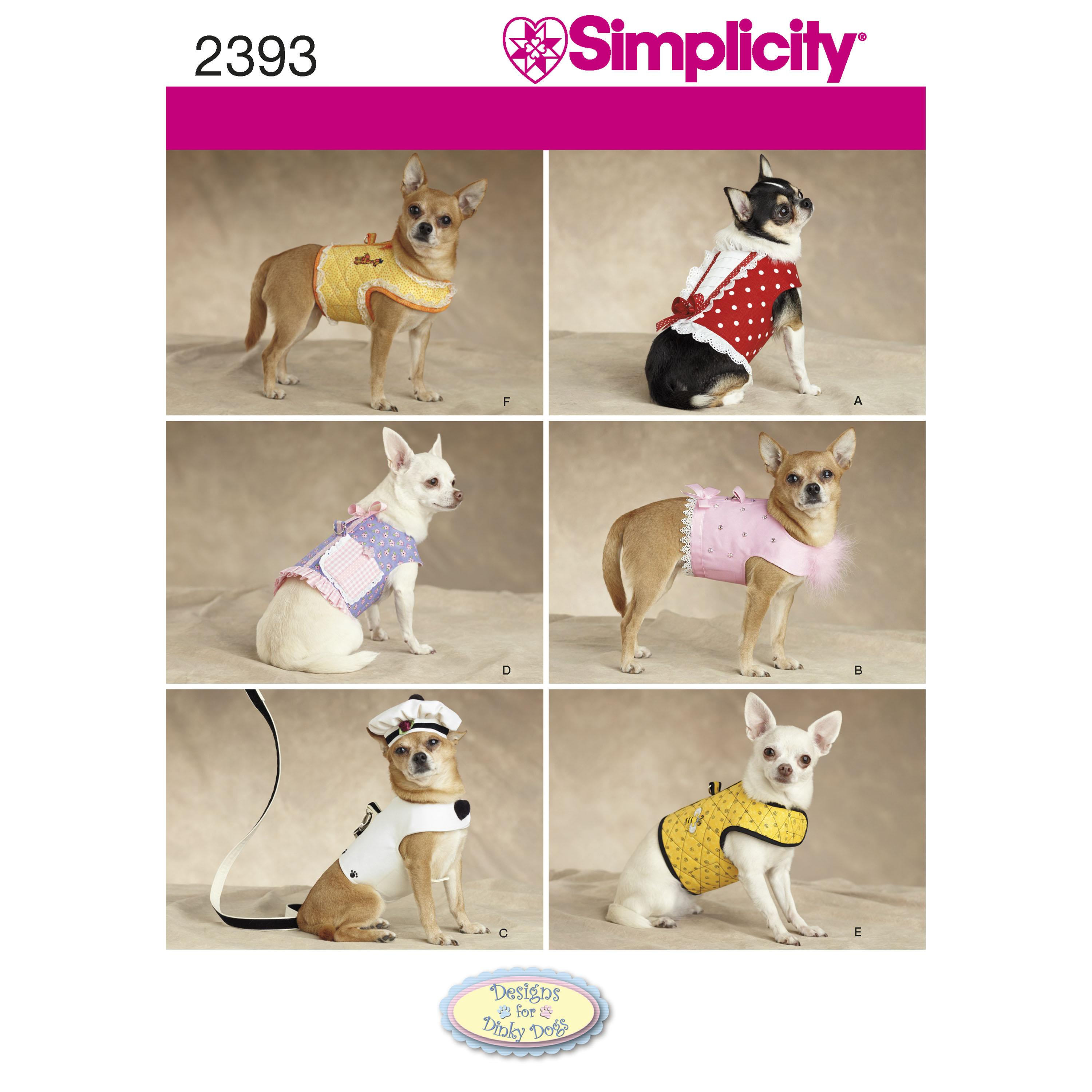 Simplicity S2393 Dog Clothes