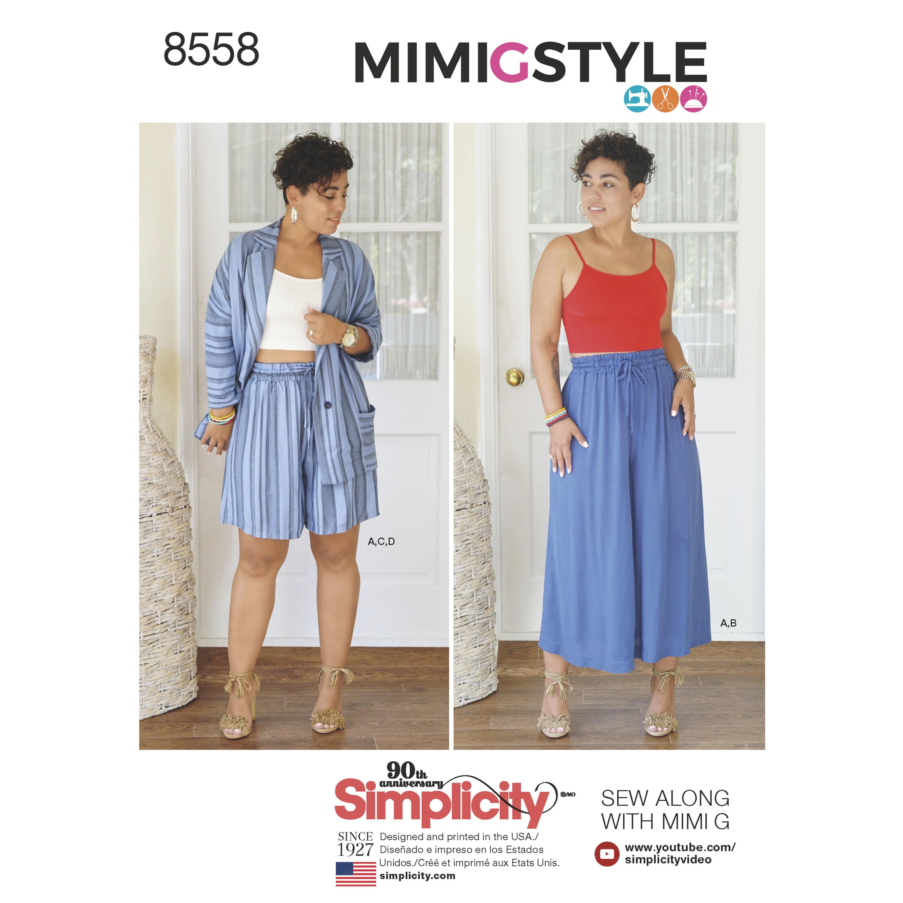 Simplicity S8558 Womens' Separates by Mimi G Style