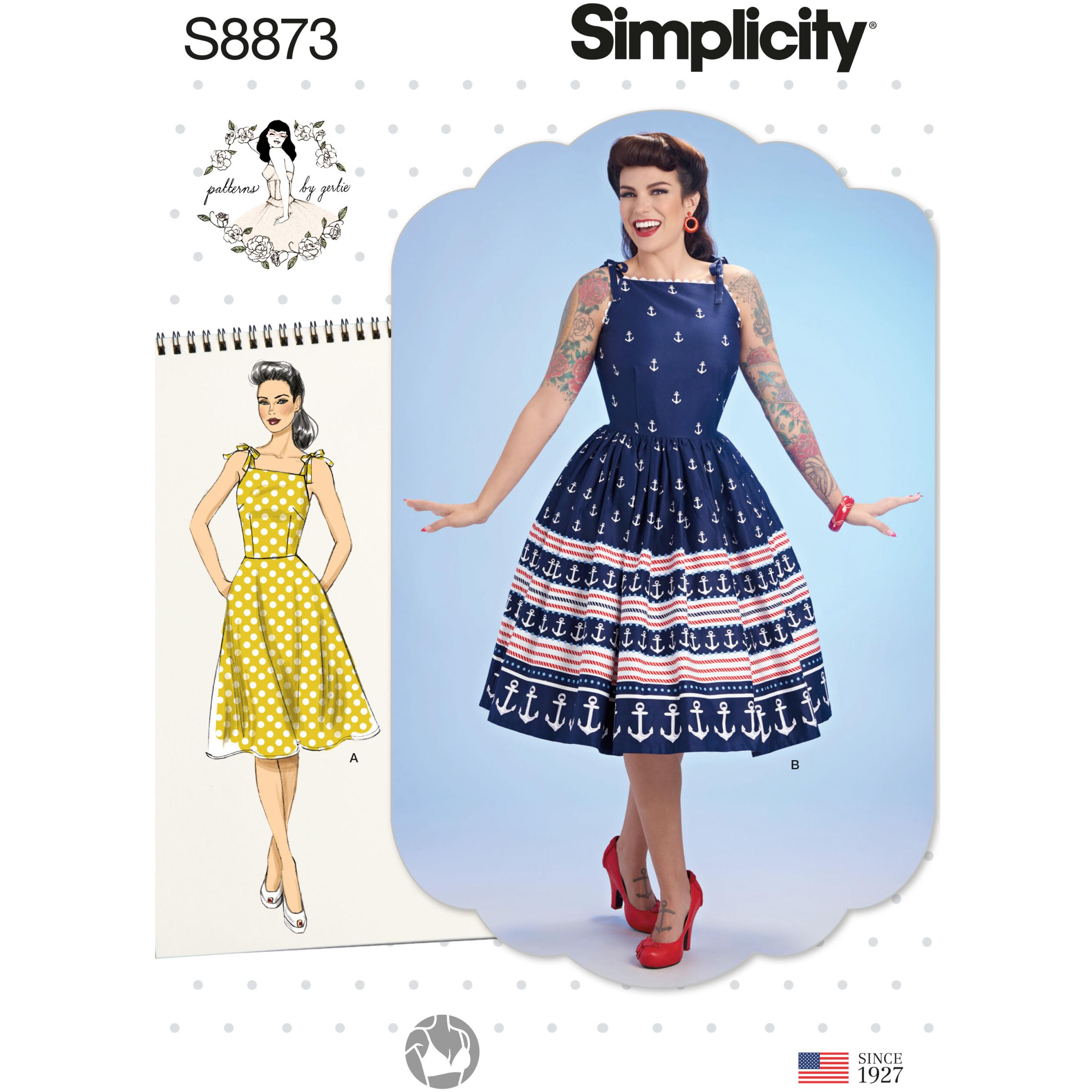 Simplicity S8873 Misses' Gertie Dress