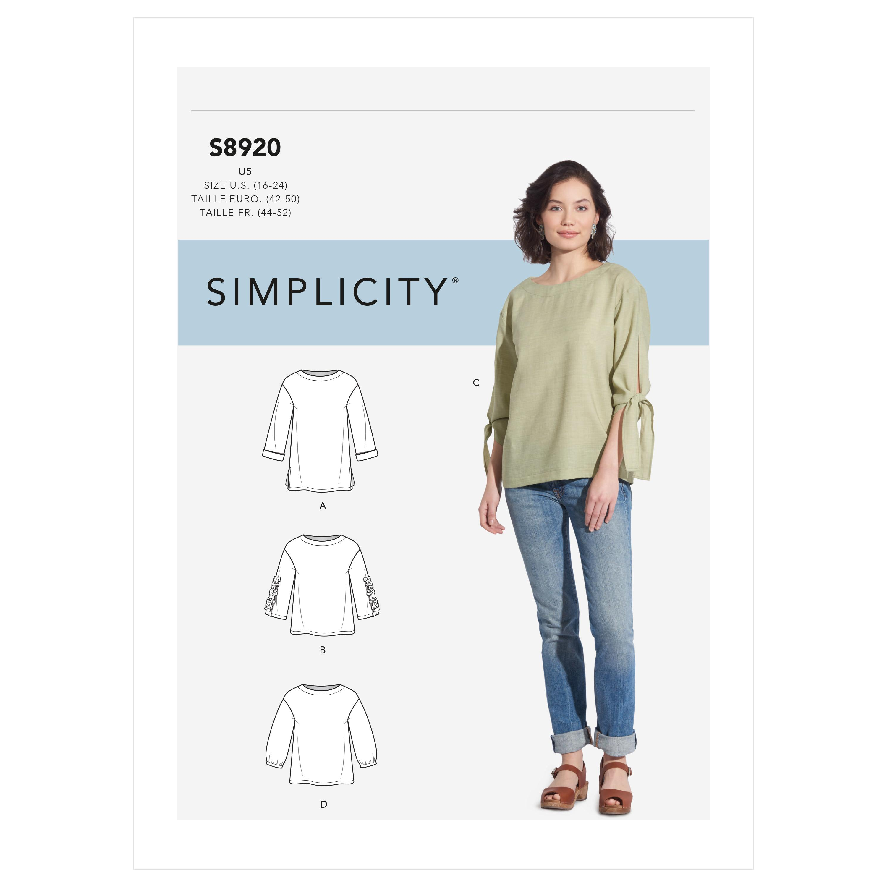 Simplicity S8920 Misses' Tops