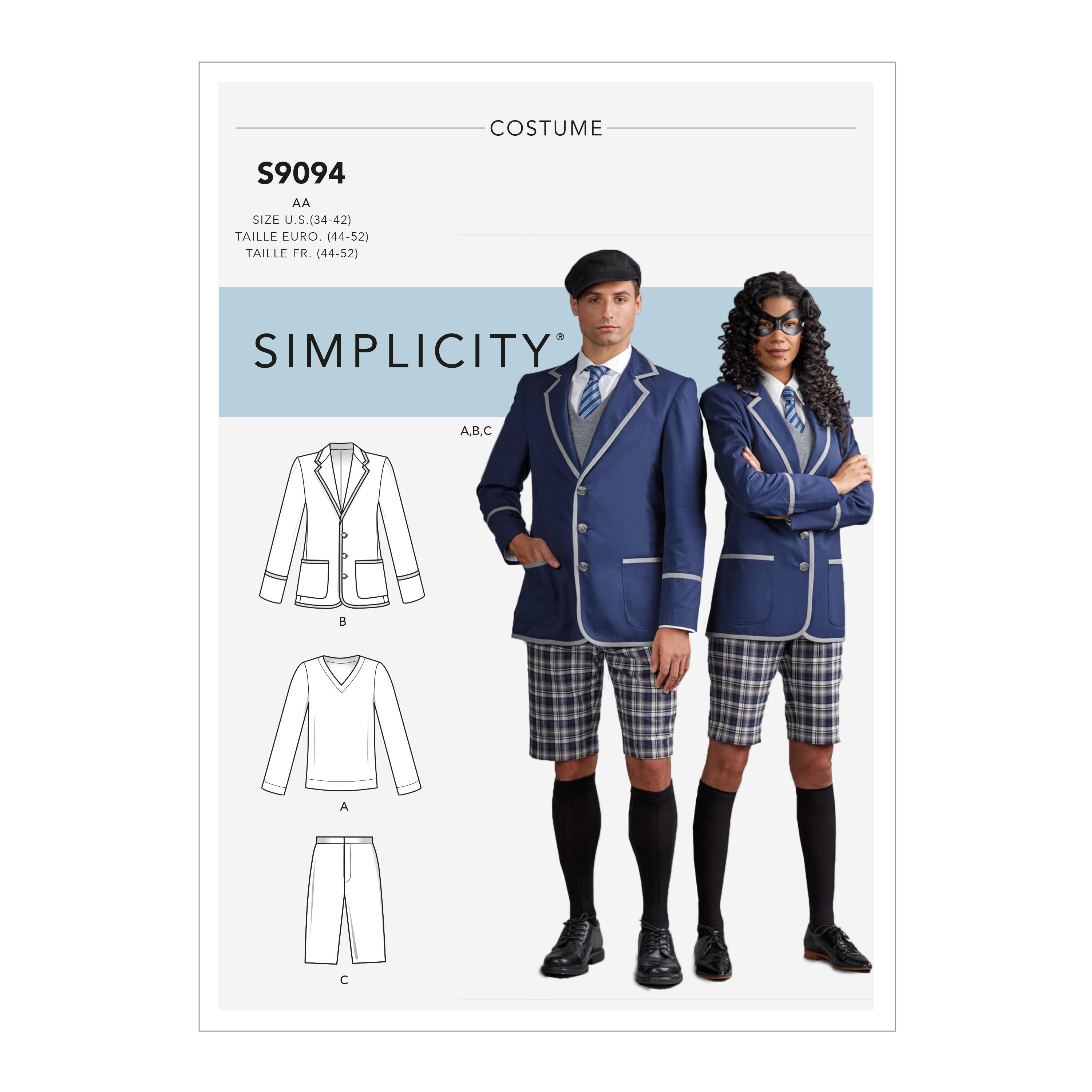 Simplicity S9094 Misses', Men's & Teens' Cosplay