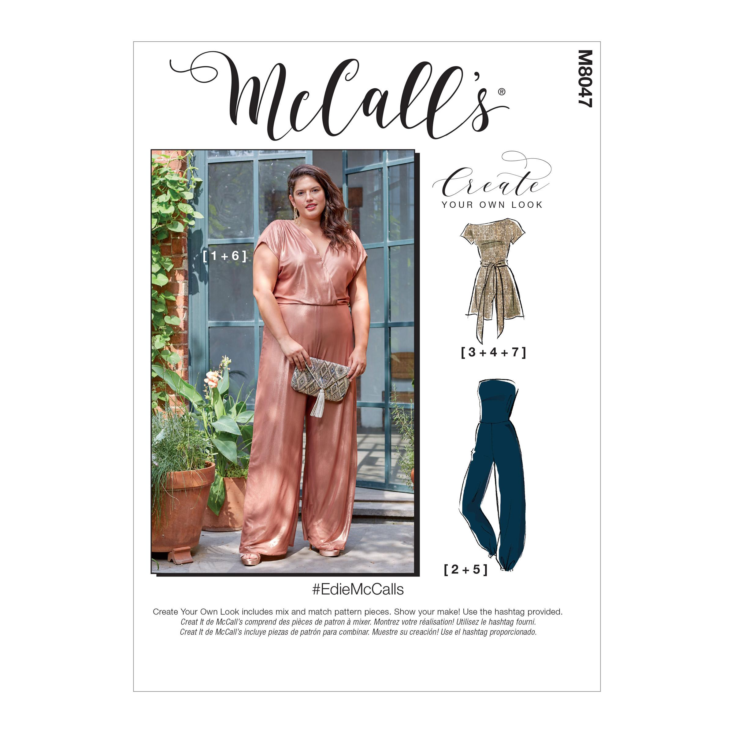 McCalls M8047 Misses Pants, Jumpsuits & Shorts, Misses Prom, Evening & Bridal, Plus Sizes