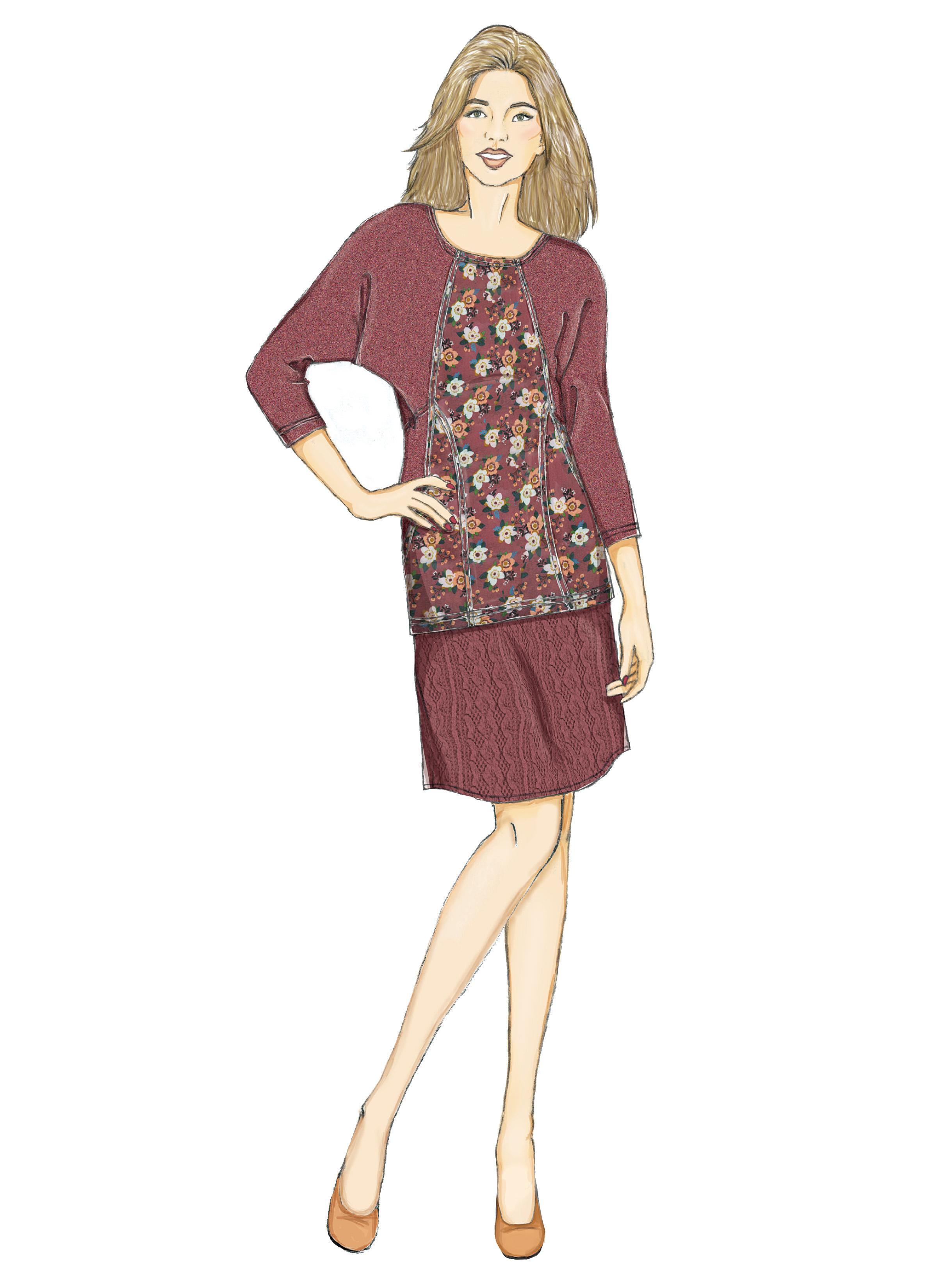 Butterick B6525 Misses' Knit Dress and Tunic, Skirt, and Pants